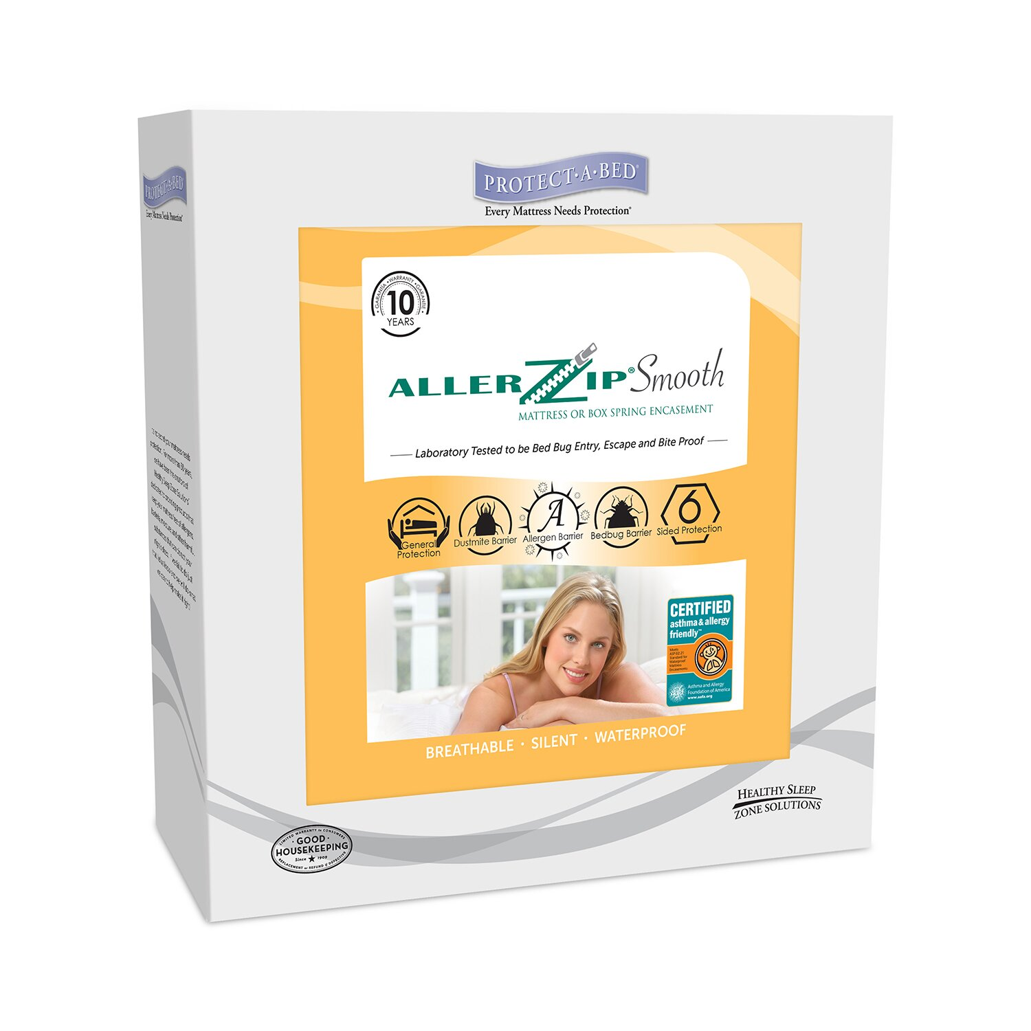 Protect A Bed Aller Zip Smooth Anti Allergy and Bed Bug