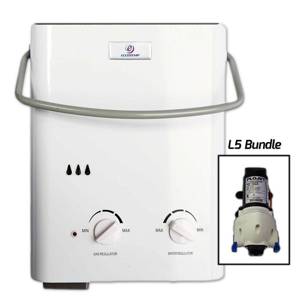 Eccotemp 1 5 gpm tankless liquid propane portable water for 1 bathroom tankless water heater