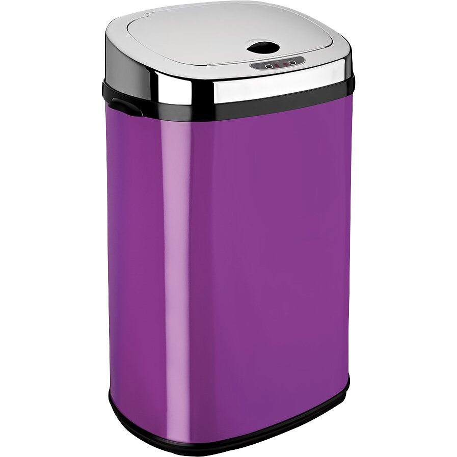 Dihl 30 l rectangle automatic sensor bin reviews for Purple bathroom bin
