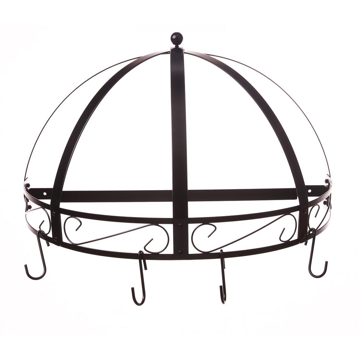 kinetic classicor series wrought iron semicircle pot rack reviews wayfair