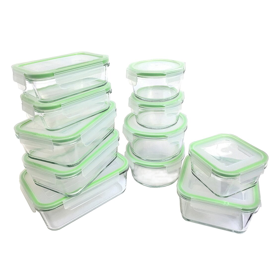 Kinetic Glassworks 22 Piece Oven Safe Glass Food Storage  : Kinetic Glassworks 22 Piece Food Storage Container Set 55043 from www.wayfair.com size 1100 x 1100 jpeg 189kB