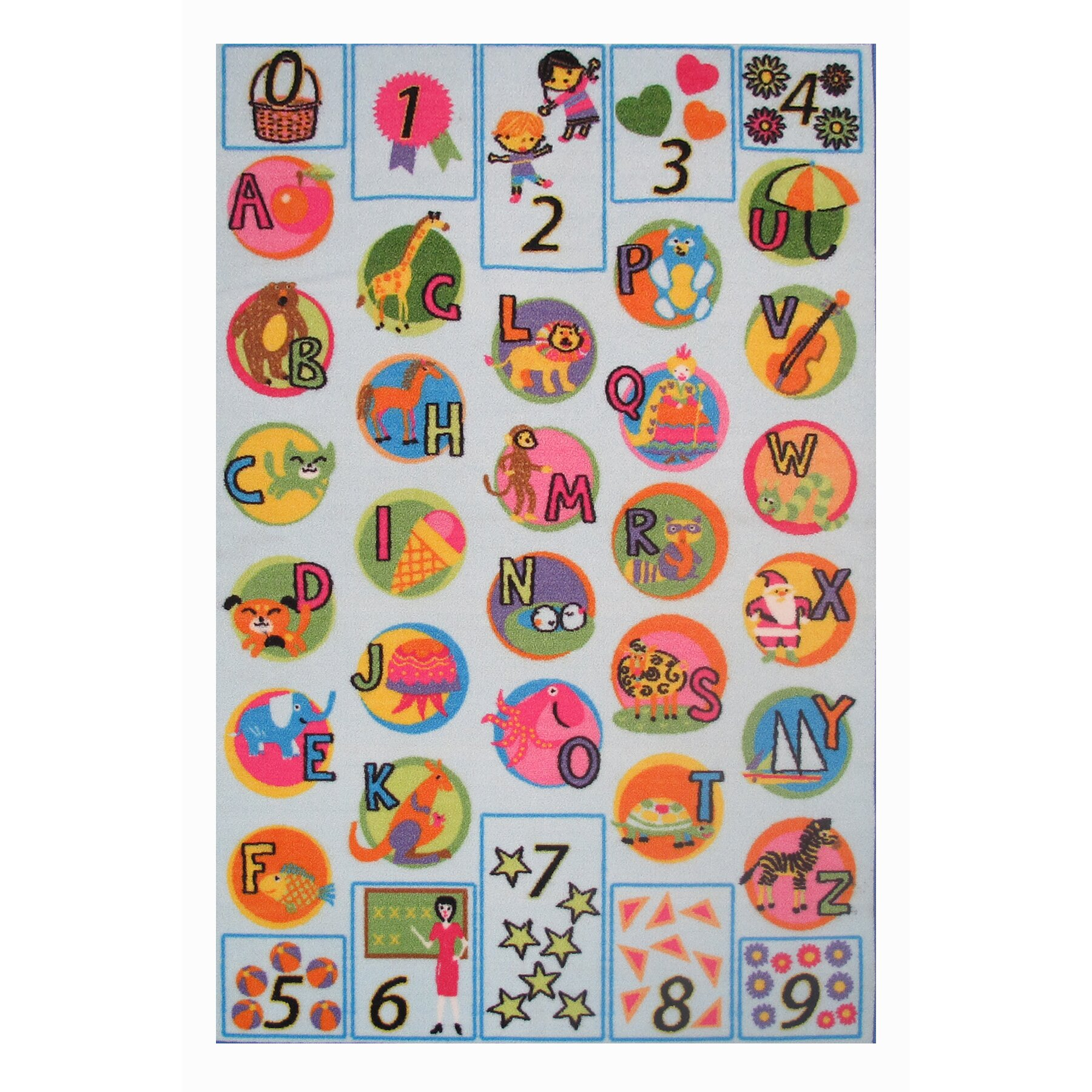 Fun Rugs Fun Time Now I Know My ABC's Kids Rug & Reviews