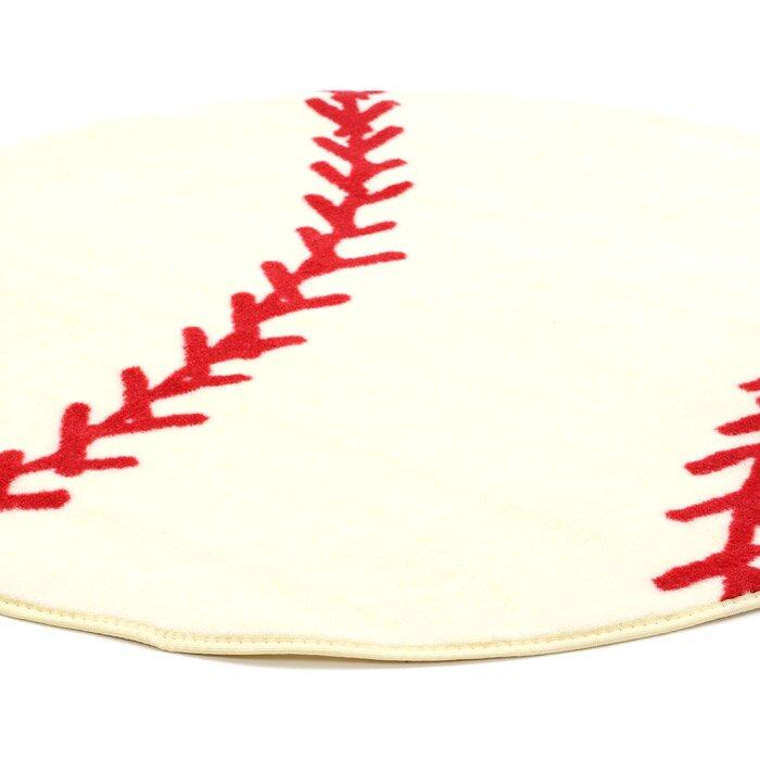 Fun Rugs Fun Shape High Pile Baseball Sports Area Rug