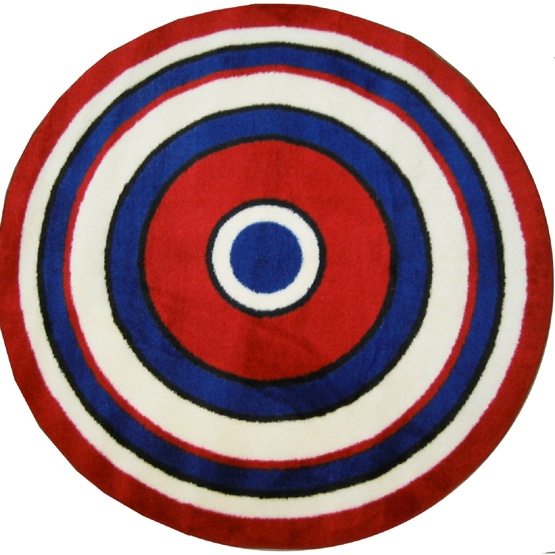 Fun Rugs Fun Shape High Pile Concentric Circles Area Rug