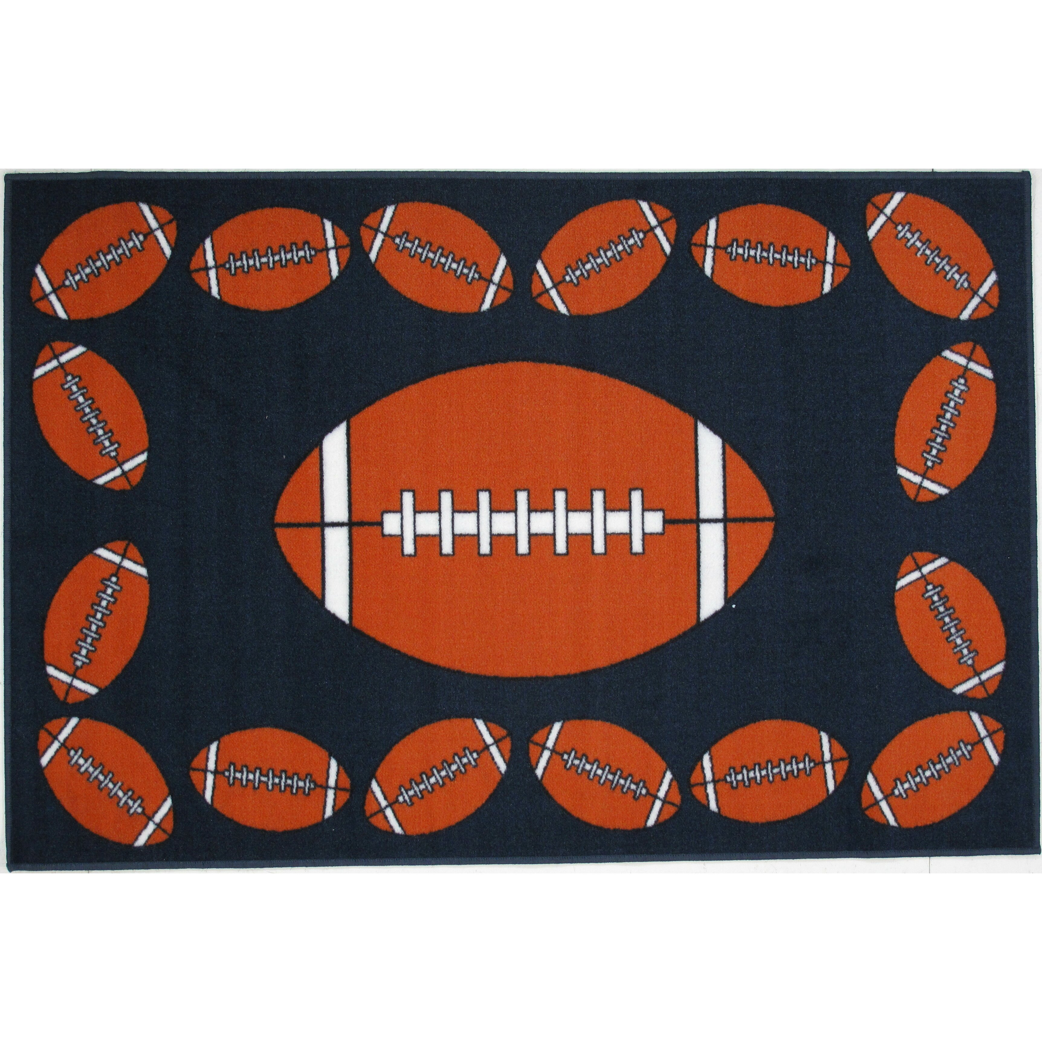 Fun Rugs Fun Time Football Time Area Rug & Reviews