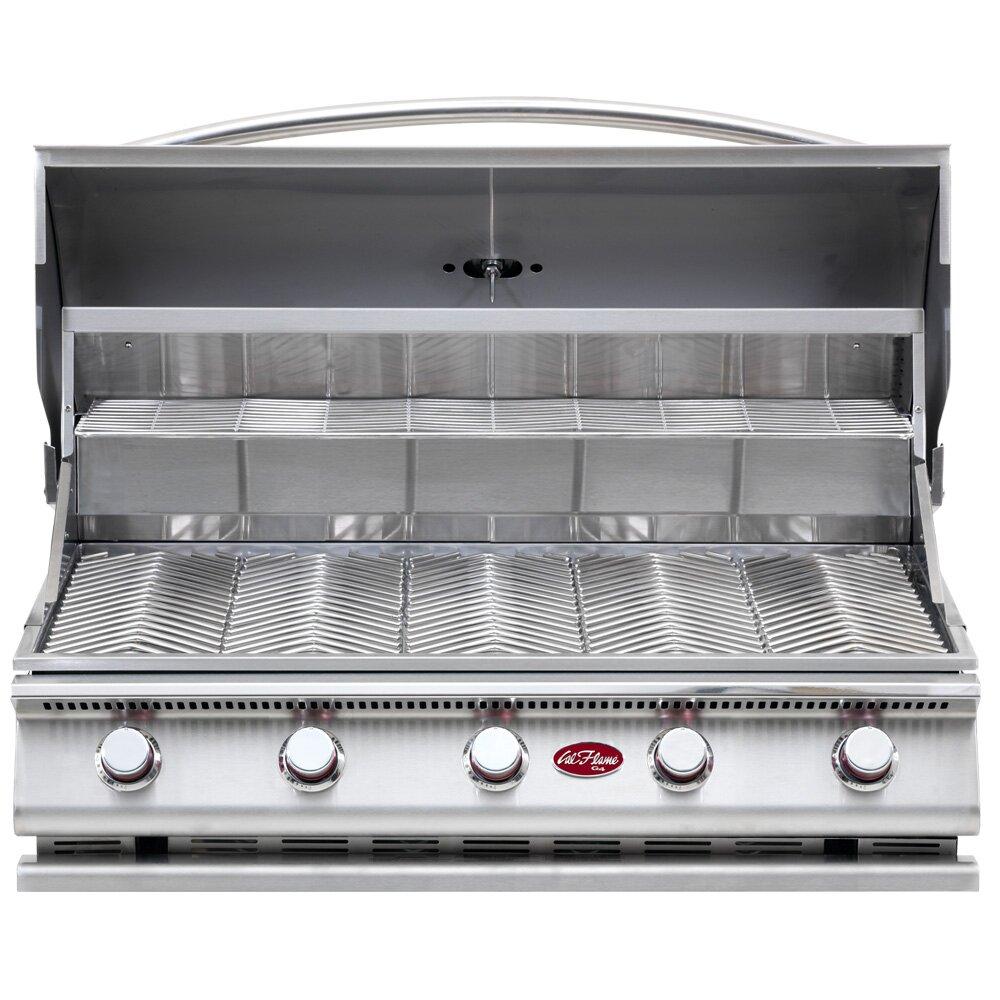 calflame g series built in 5 burner gas grill reviews. Black Bedroom Furniture Sets. Home Design Ideas