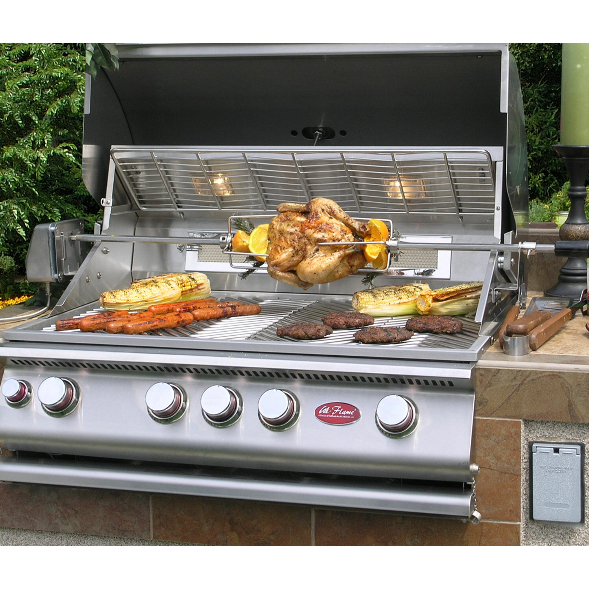 CalFlame 4-Burner Built-In Gas Grill | Wayfair