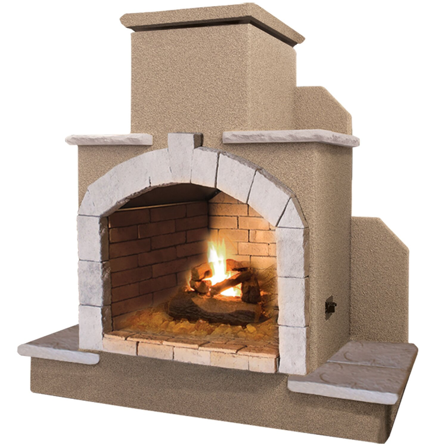 Calflame Propane Gas Outdoor Fireplace Wayfair