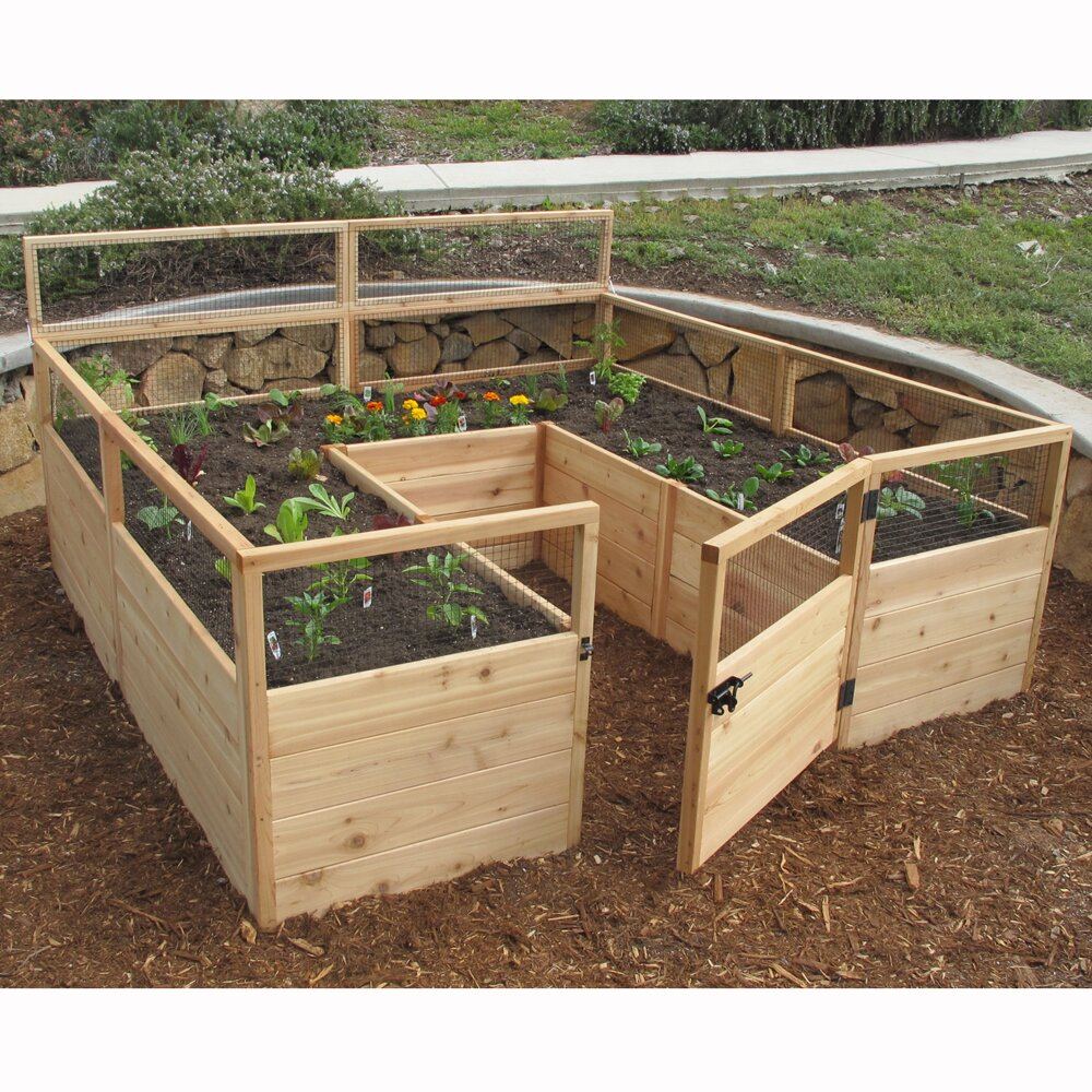 Gardening Beds: Outdoor Living Today Rectangular Raised Garden