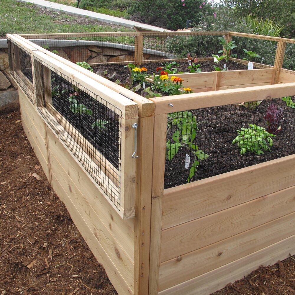 Outdoor living today rectangular raised garden wayfair for Garden designs for rectangular gardens