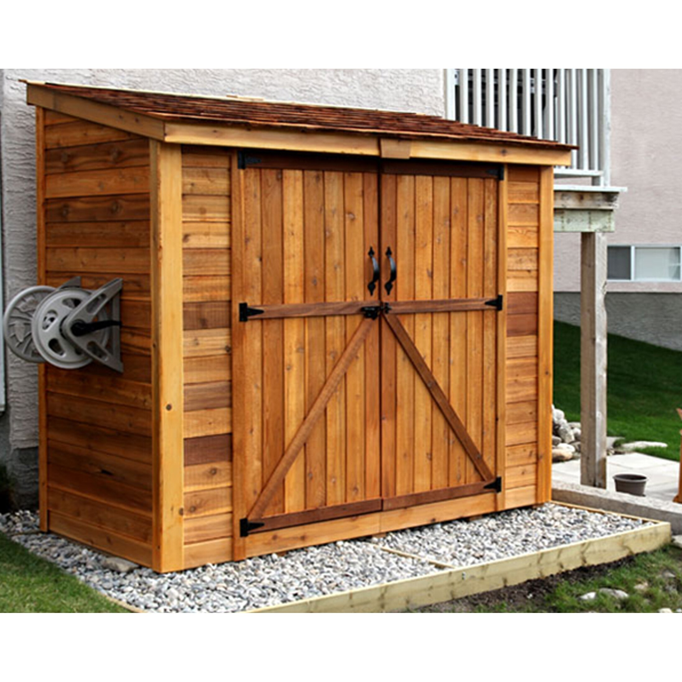 Outdoor Living Today SpaceSaver 8 Ft W X 4 Ft D Garden Shed With Double Doo