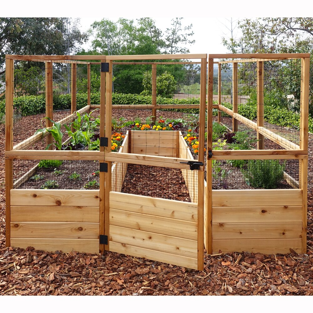 Outdoor Living Today Rectangular Raised Cedar Garden Bed