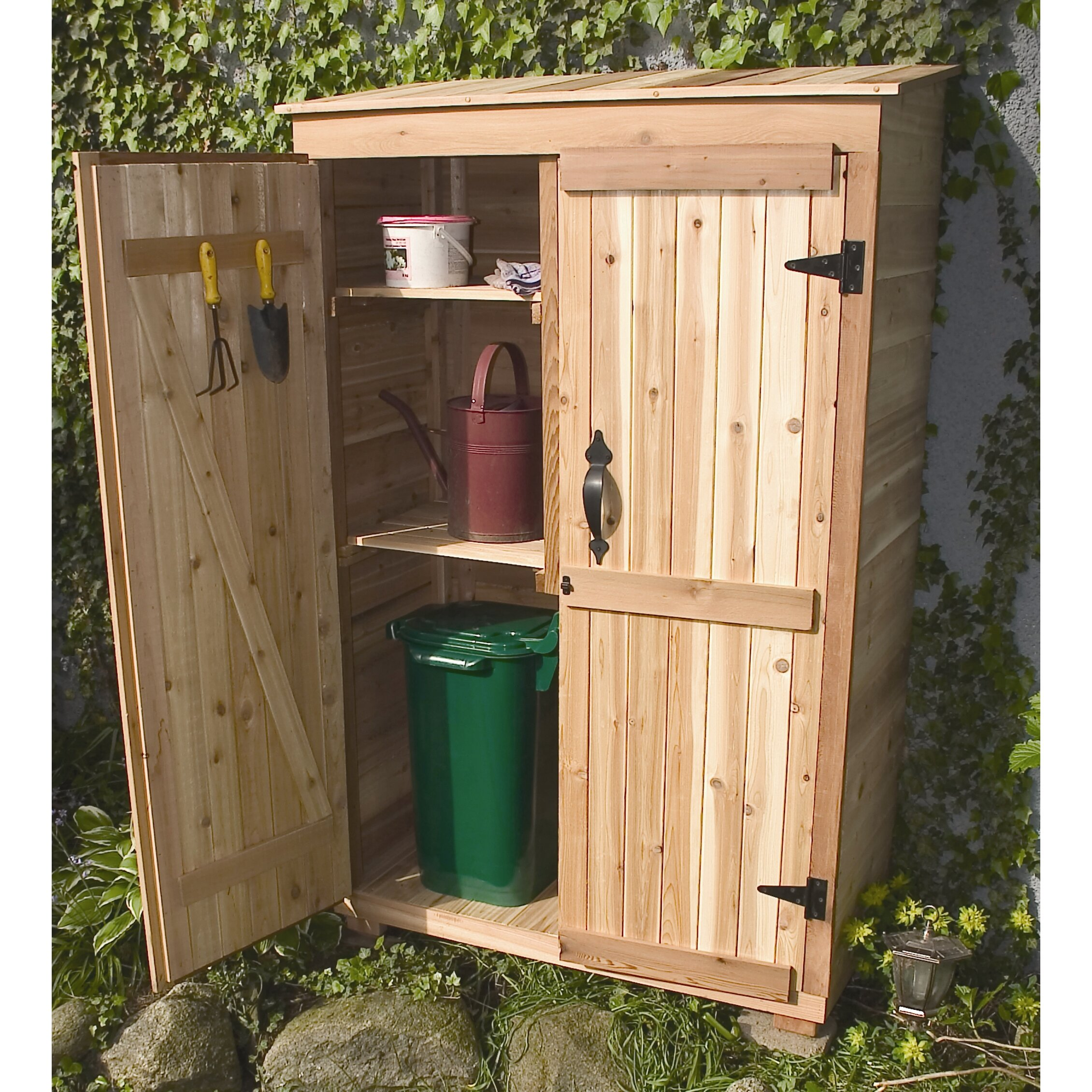 Outdoor living today garden chalet 4 ft w x 2 ft d wood for Garden shed 4 x 2