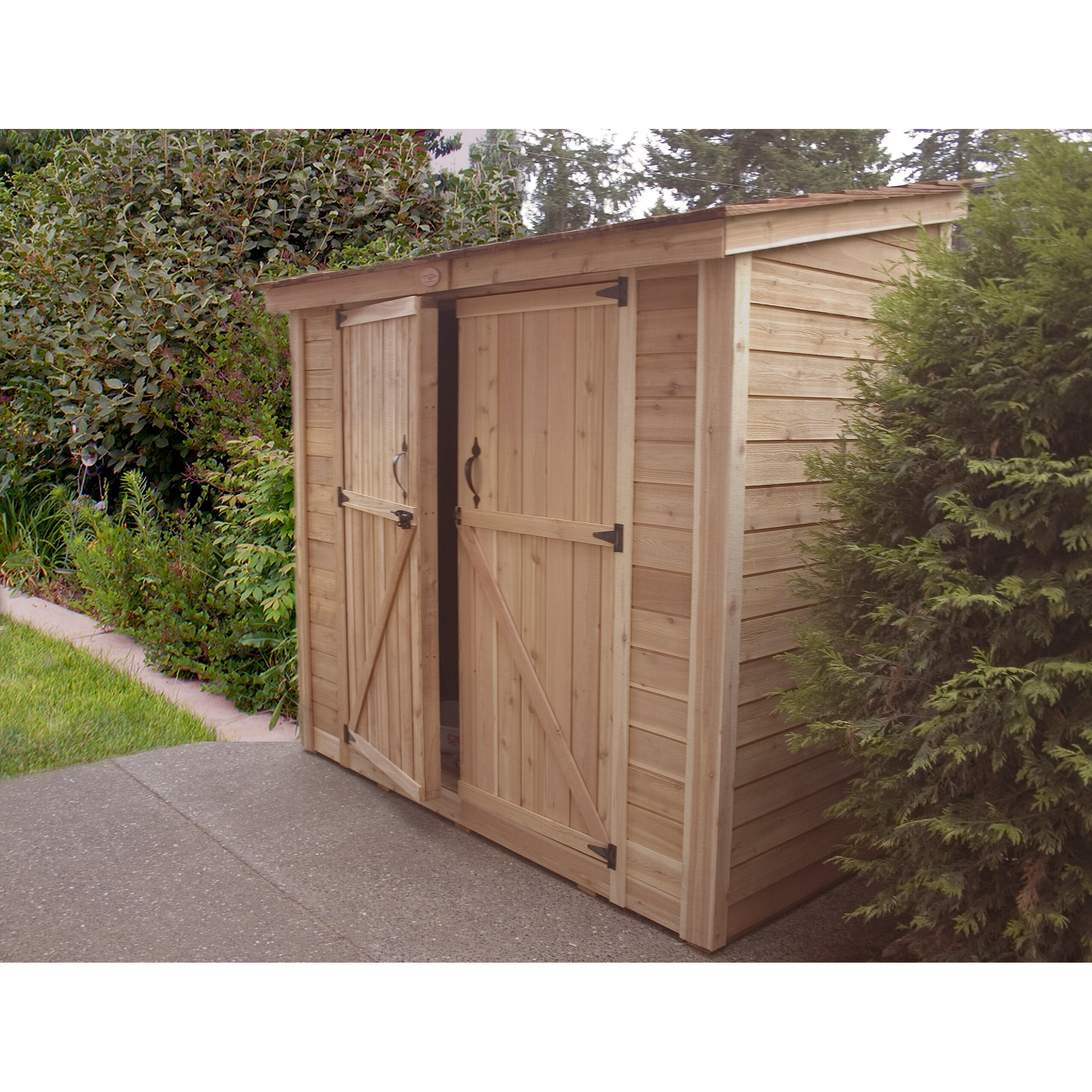 Outdoor living today spacesaver 8 ft w x 4 ft d garden for Garden shed 9 x 5