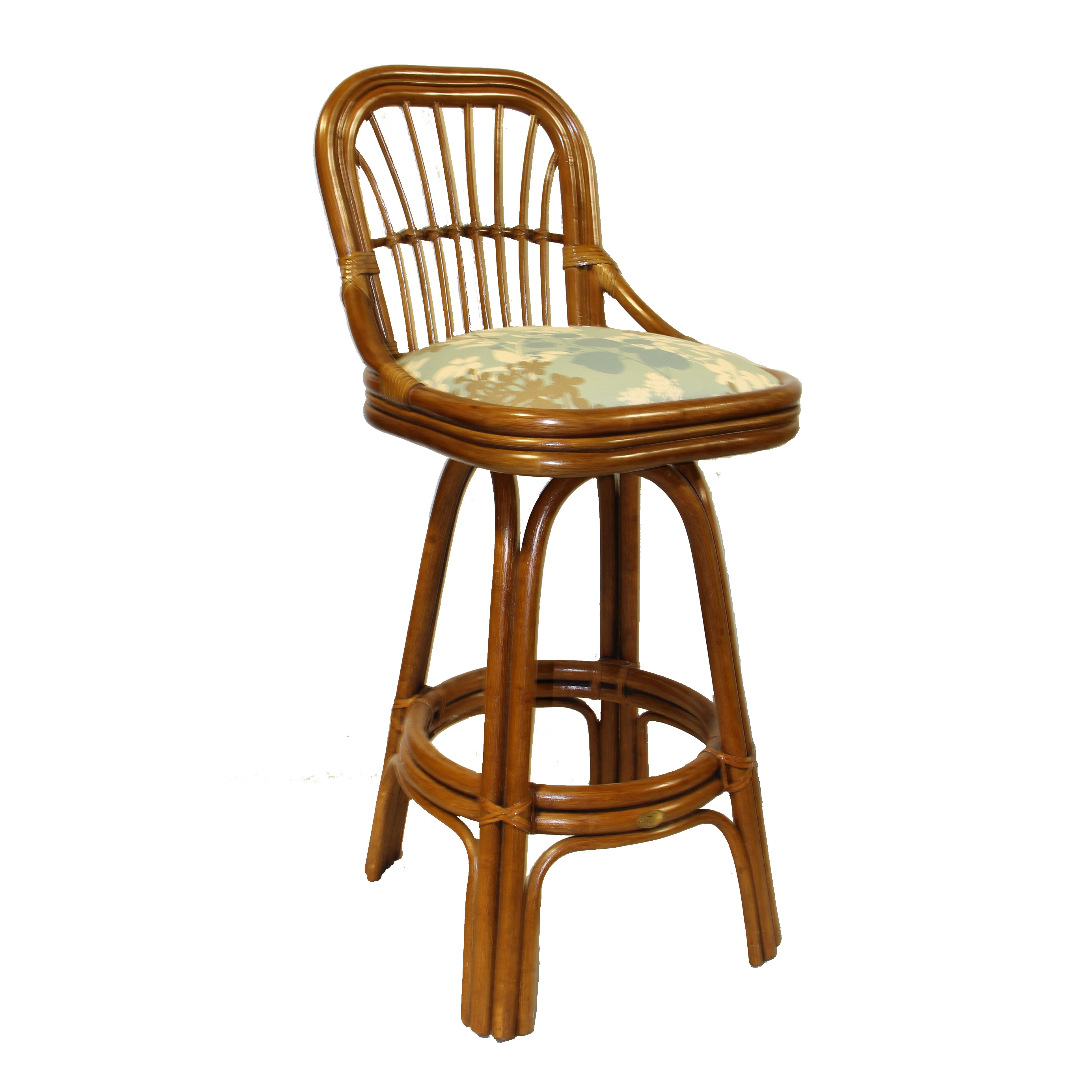 "Amarillo Mattress Boca Rattan Amarillo 30"" Swivel Bar Stool & Reviews 
