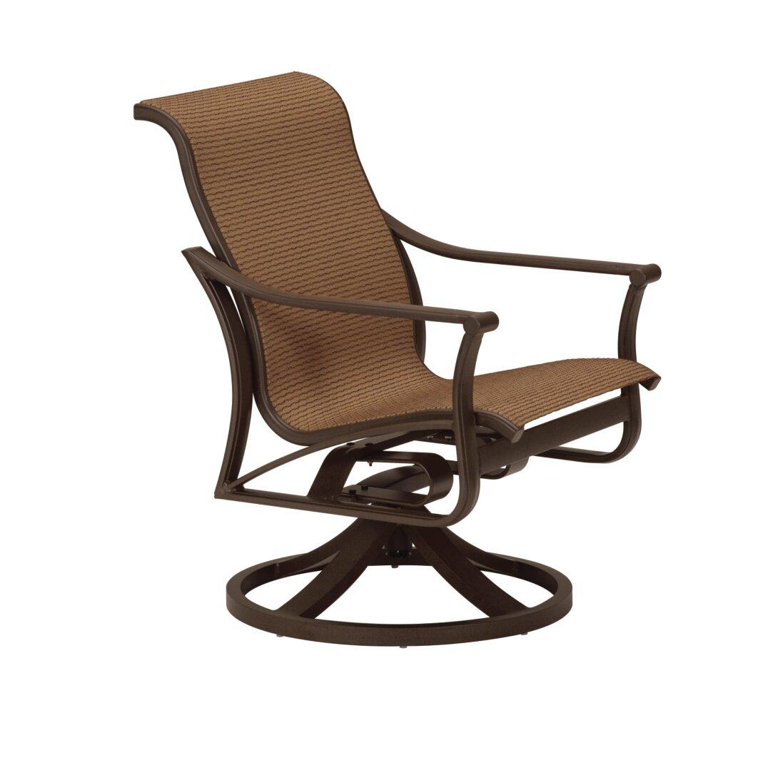 Tropitone Corsica Sling Swivel Rocking Chair  Wayfair