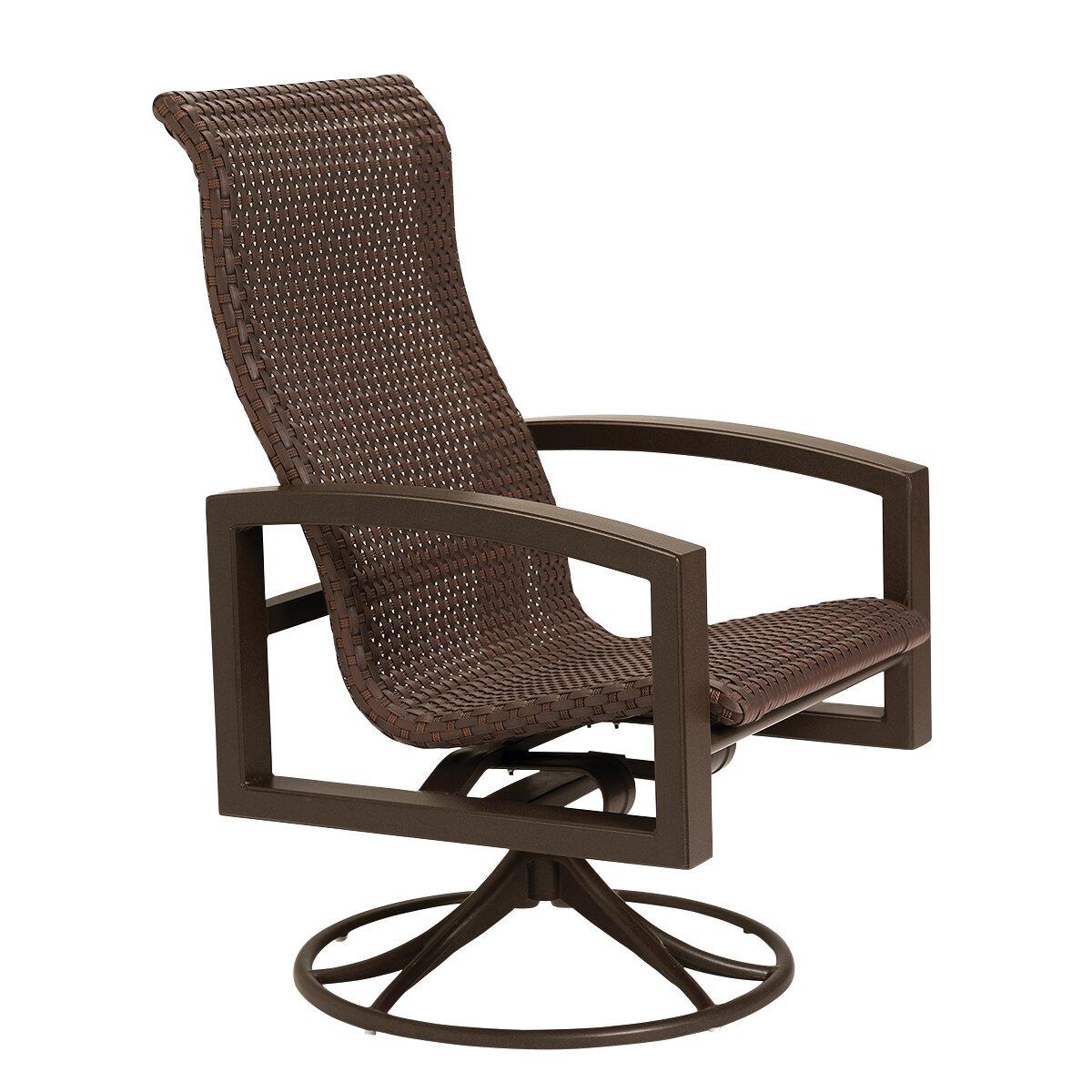 Tropitone Lakeside Woven Swivel Rocking Chair
