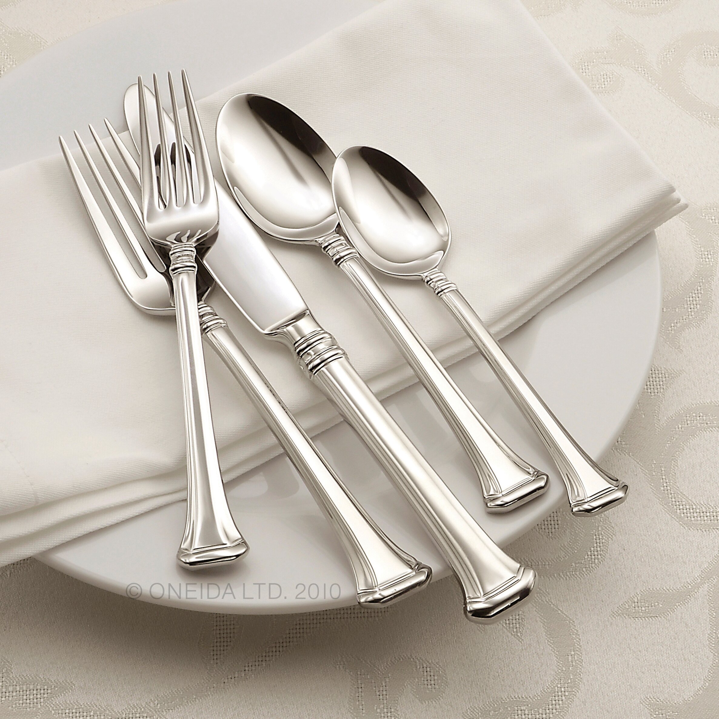 Oneida Apollonia 45 Piece Flatware Set Amp Reviews Wayfair
