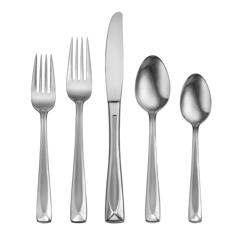 Oneida stain lincoln 45 piece flatware set reviews wayfair for Oneida flatware
