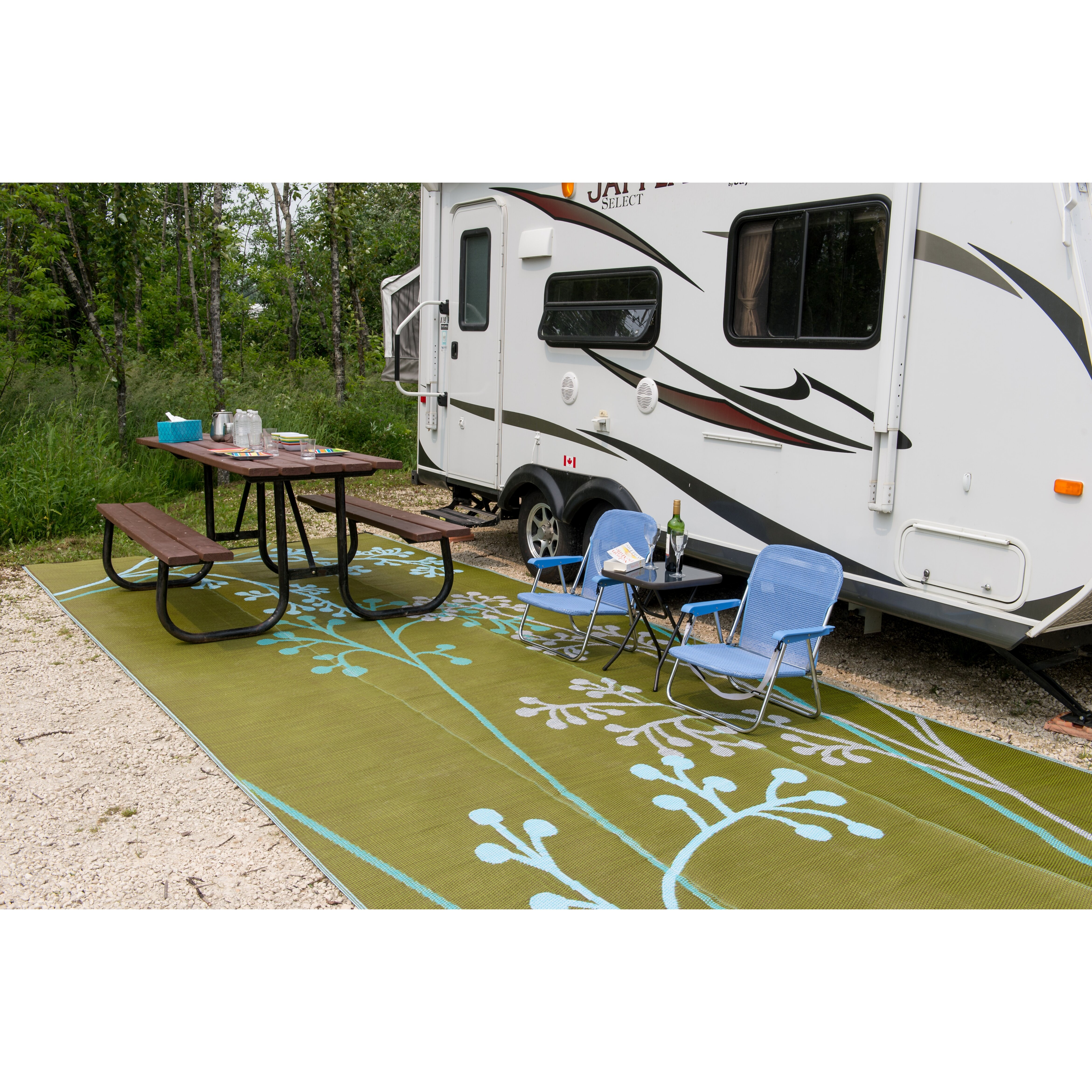 B B Begonia Fernando Reversible Rv Camping Patio Mat In