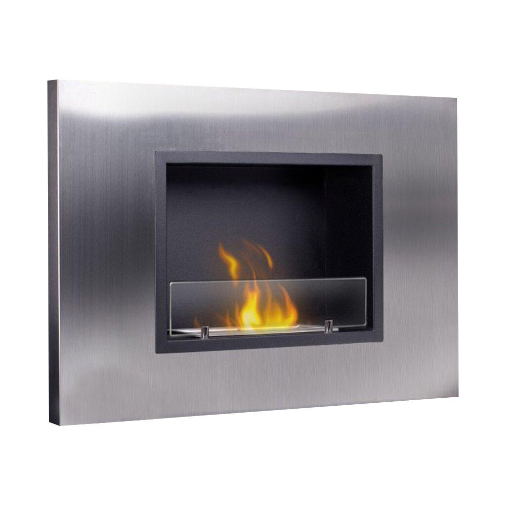 Pureflame Orinda Wall Mount Bio Ethanol Fireplace Wayfair