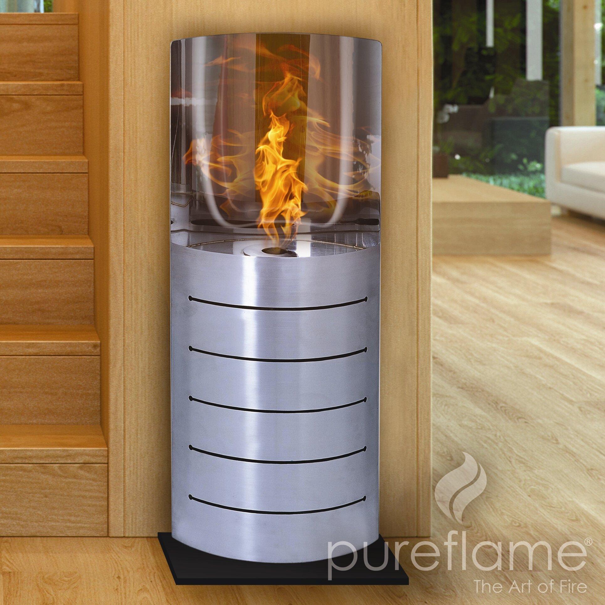 Aquafires titan ethanol fireplace wayfair for Ethanol outdoor fire pit