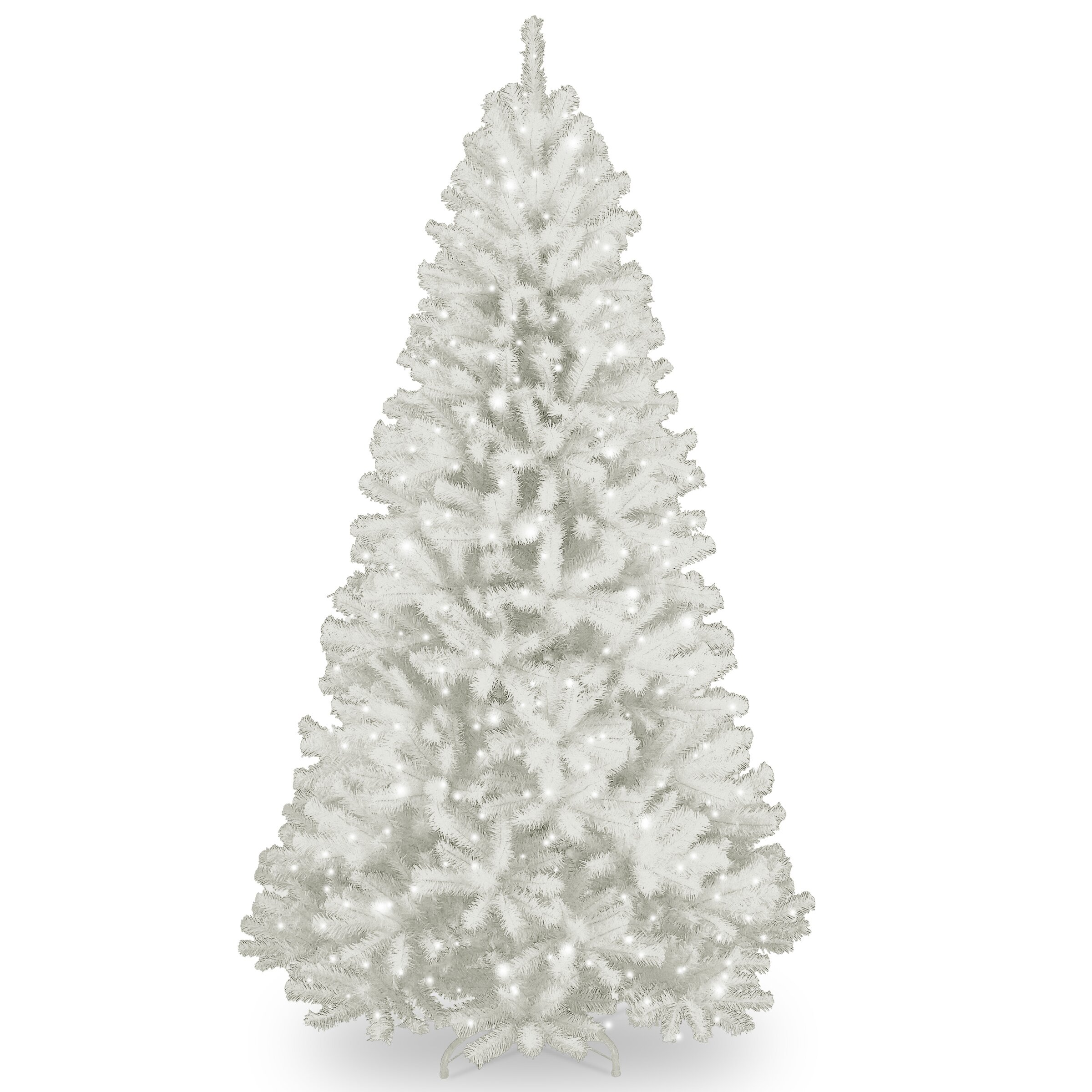 National Tree Co. North Valley Spruce 7' White Artificial ...