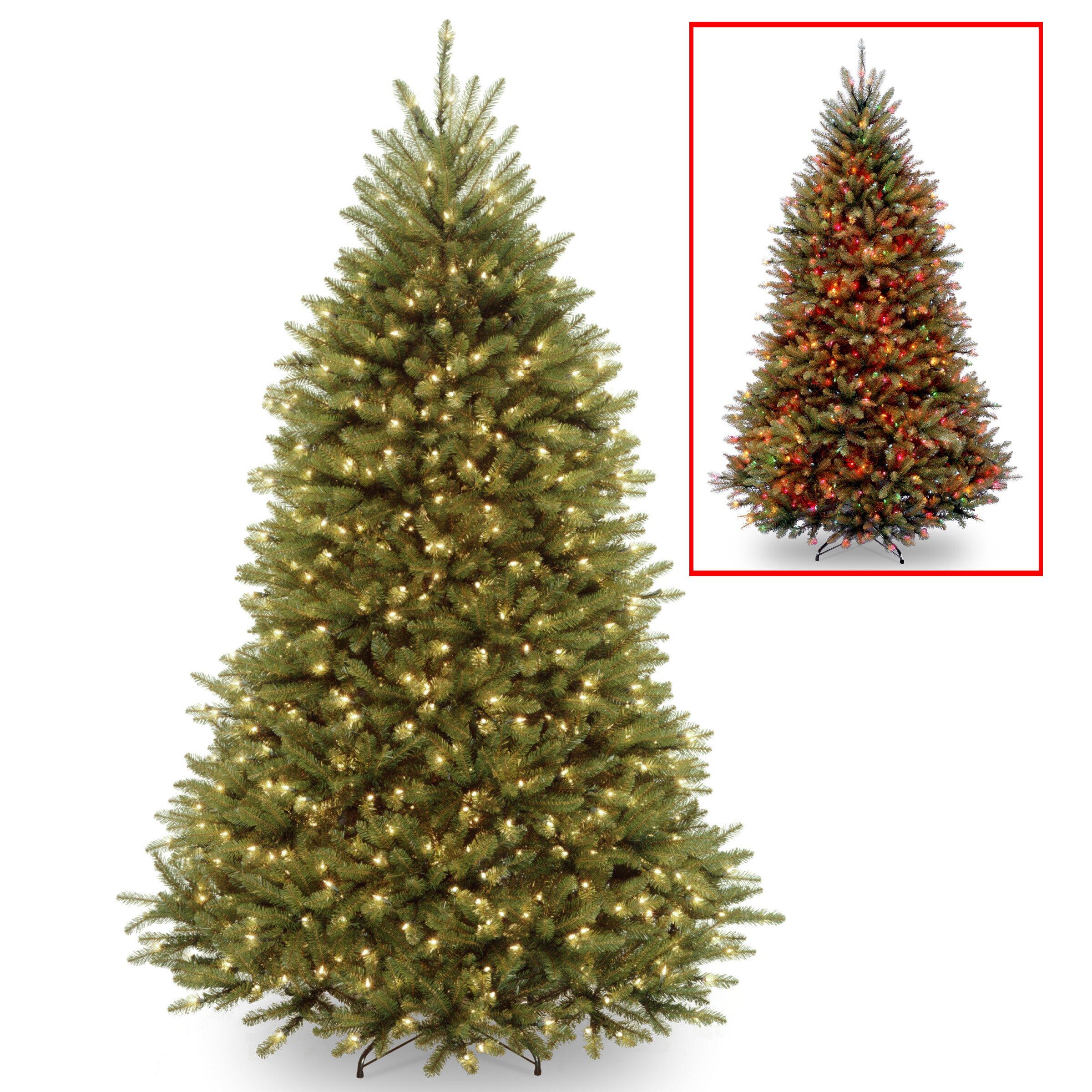 White Fir Christmas Tree: National Tree Co. Dunhill Fir 7.5' Hinged Green Artificial
