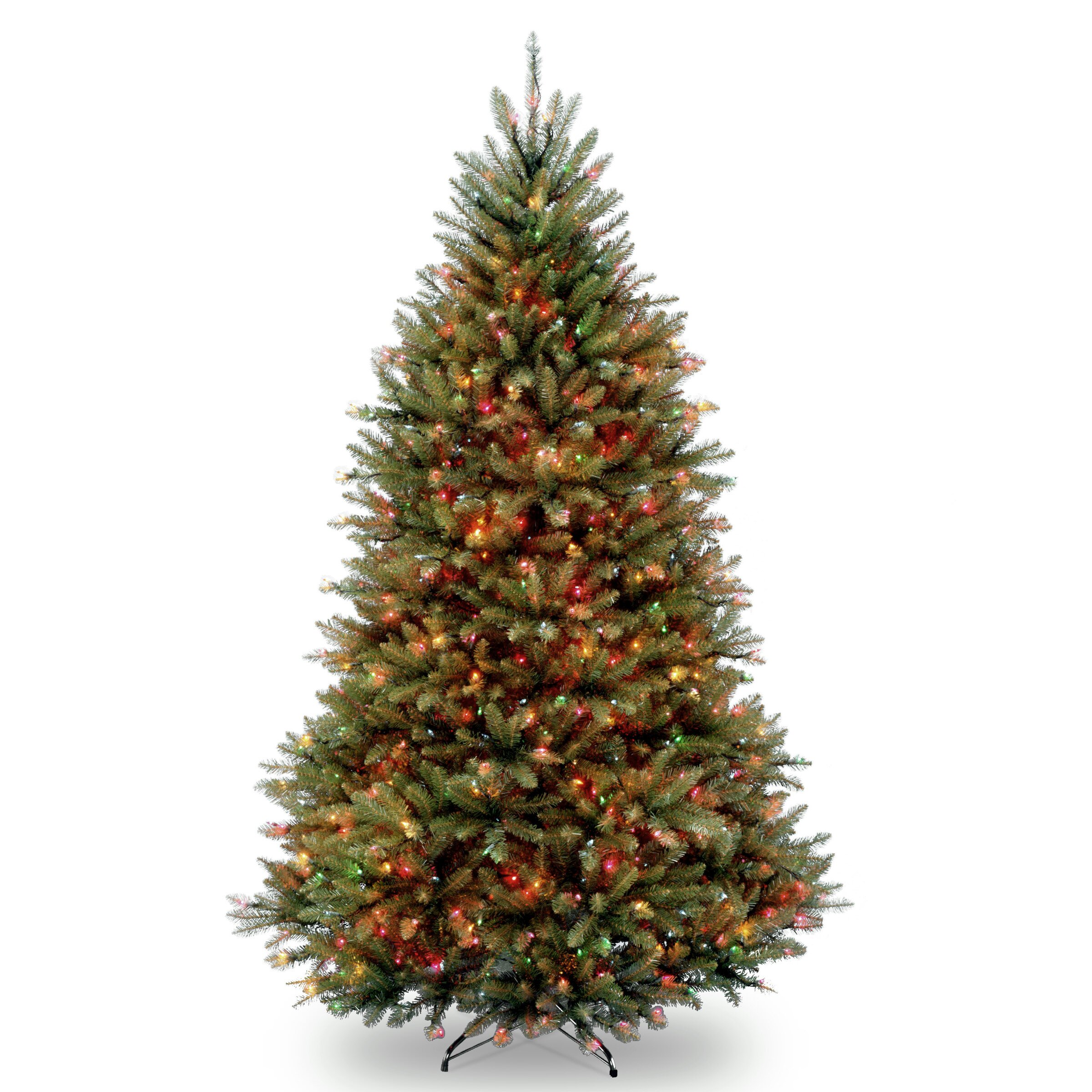 Home Depot Real Christmas Tree Prices: National Tree Co. Dunhill Fir 7.5' Hinged Green Artificial