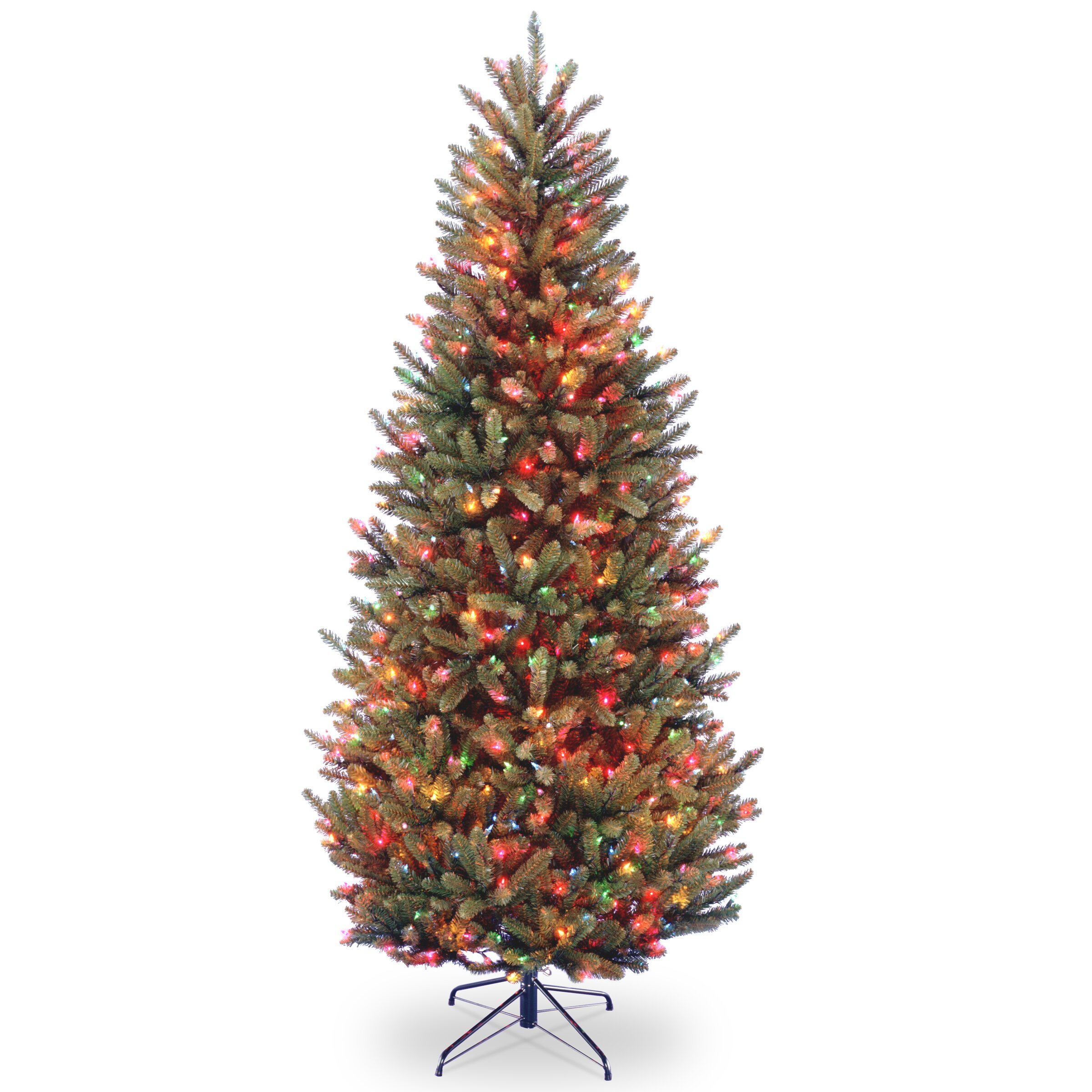 national tree co natural fraser 7 5 39 green fir slim On multi colored lights