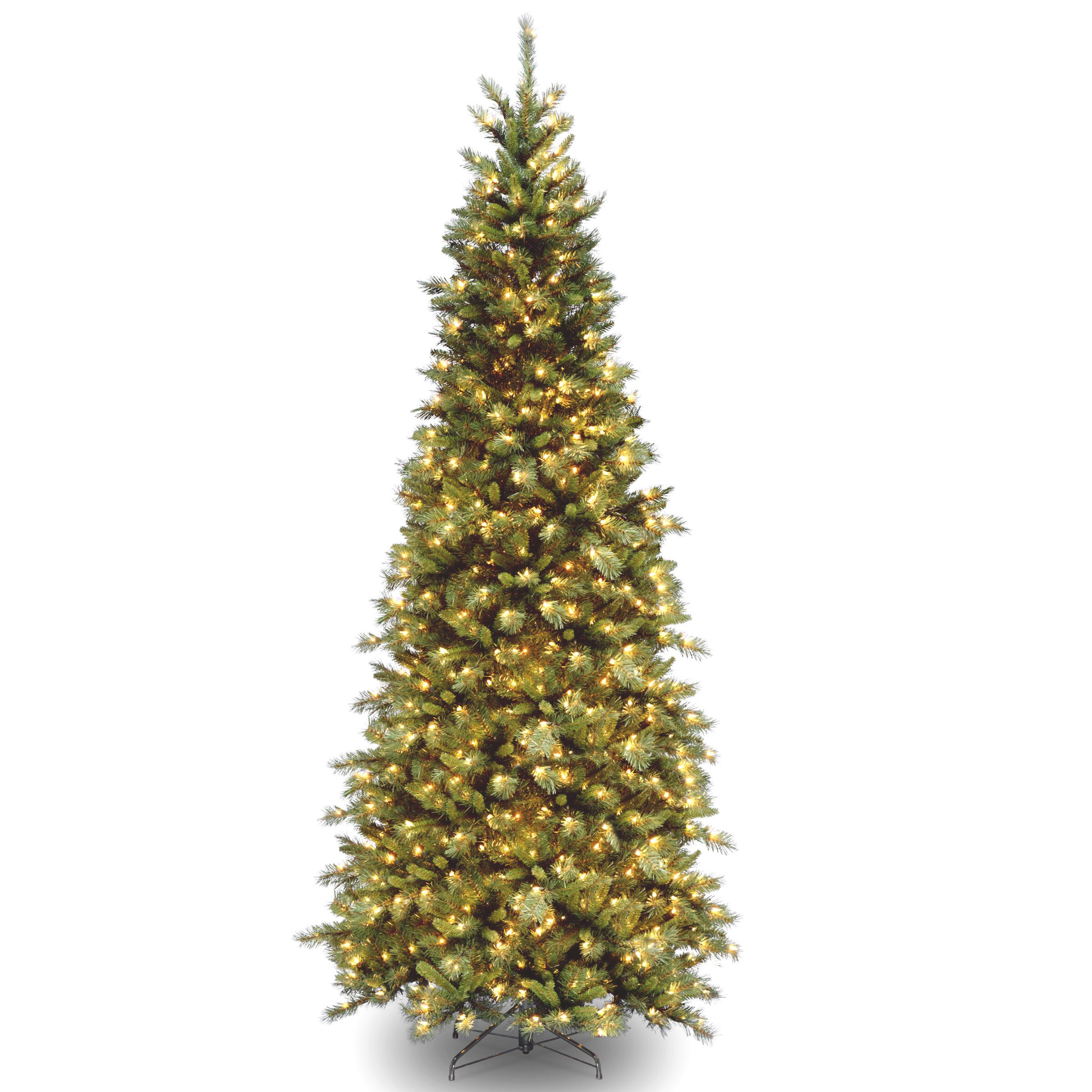 National tree co tiffany fir green slim artificial