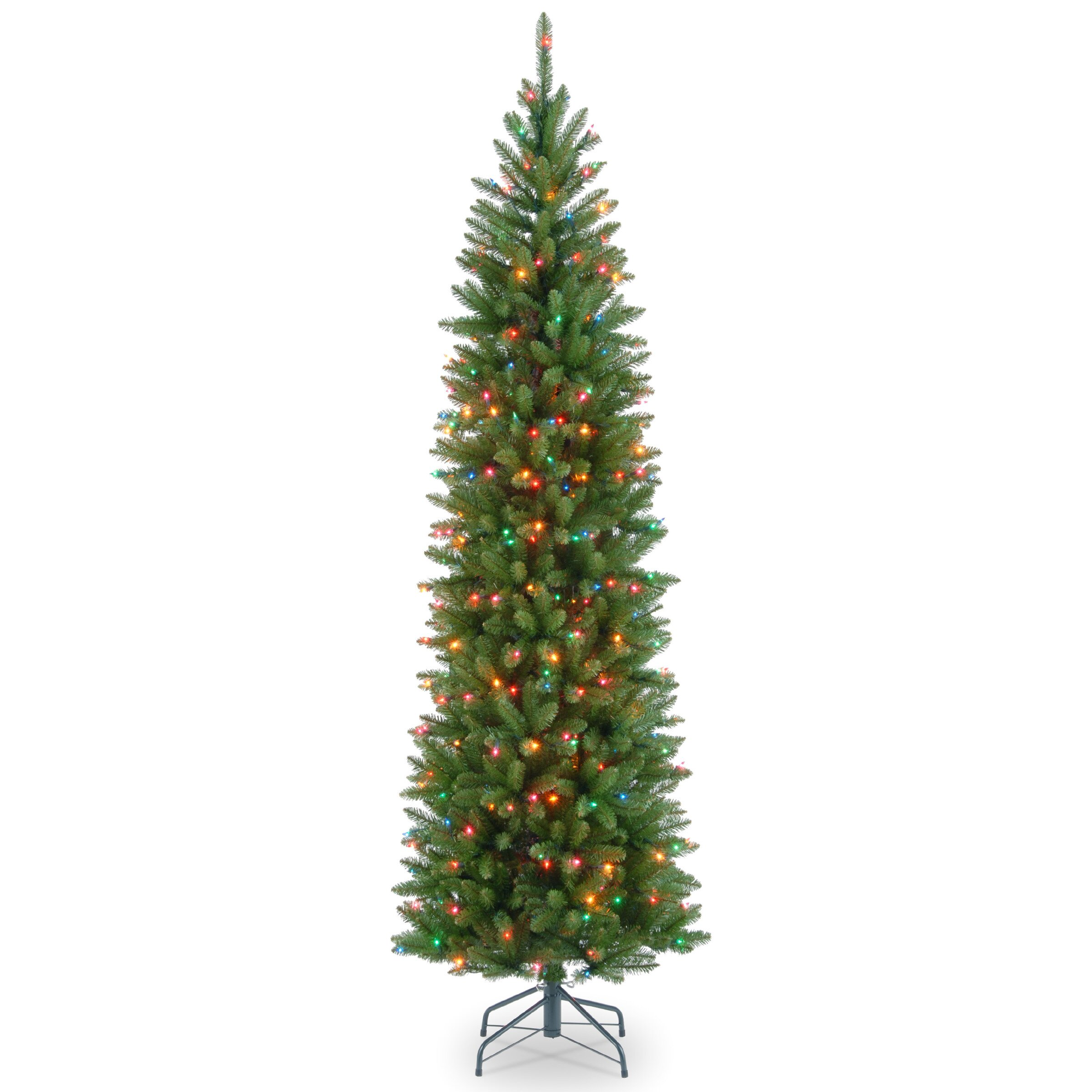 National Tree Co Kingswood Fir 7 5 Green Artificial Tree With Colored Lights