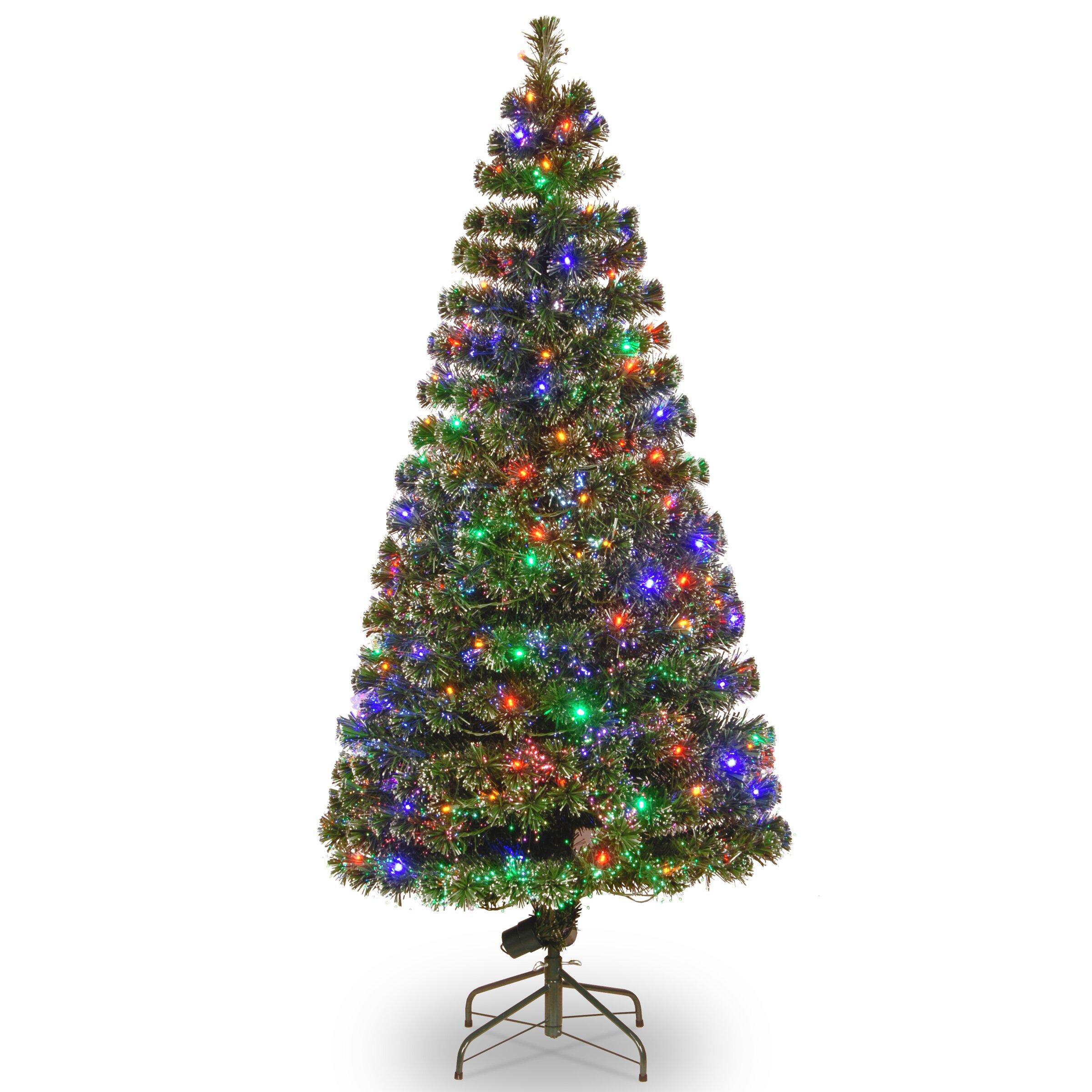National Tree Co Fibre Optics Evergreen 6 Green