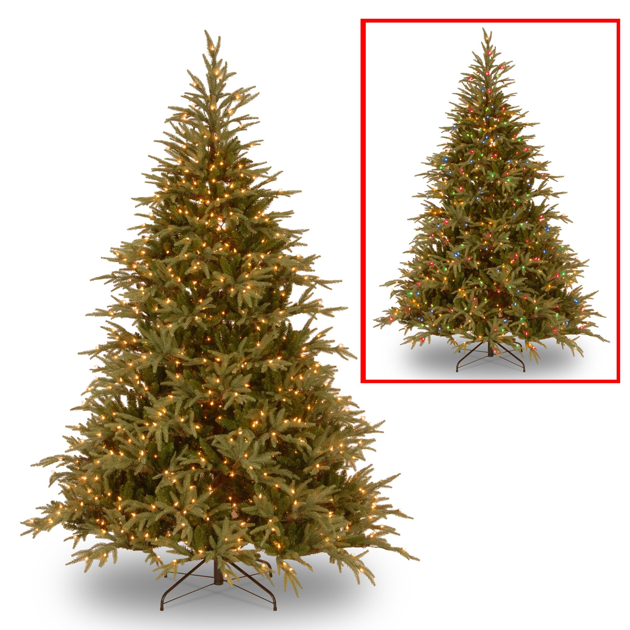National Tree Co. Fraser 6' Green Artificial Christmas Tree with ...