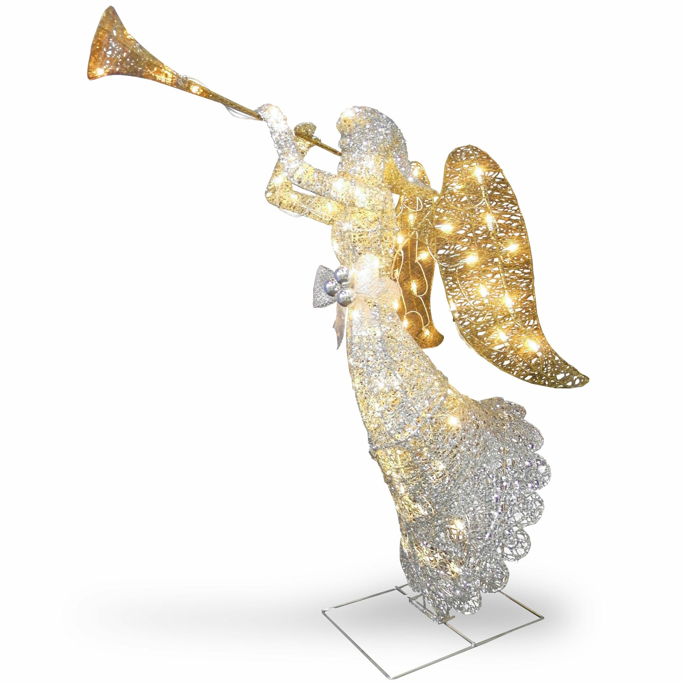 National tree co crystal angel christmas decoration for Angel christmas tree decoration