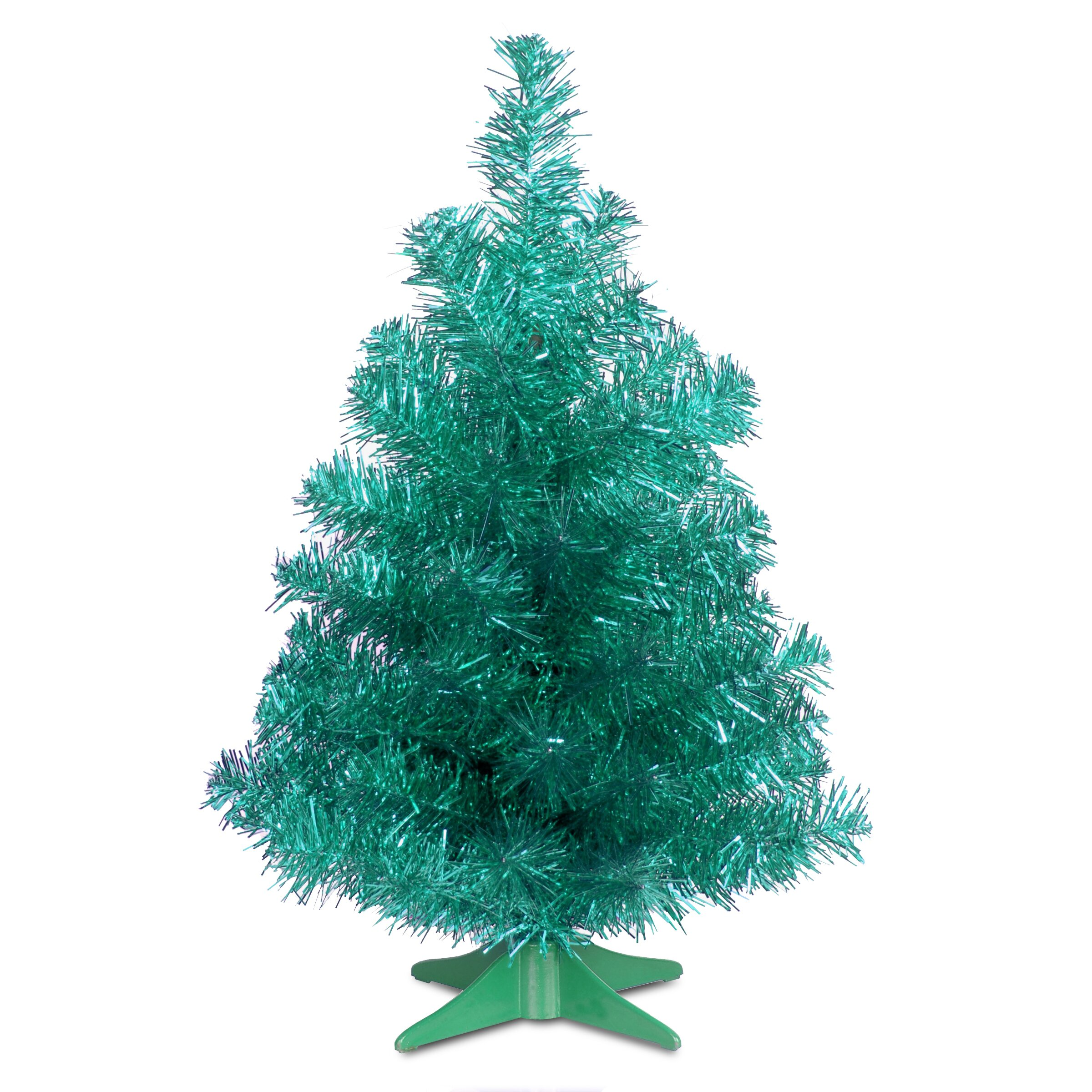 National Tree Co Tinsel Trees 2 39 Turquoise Tinsel