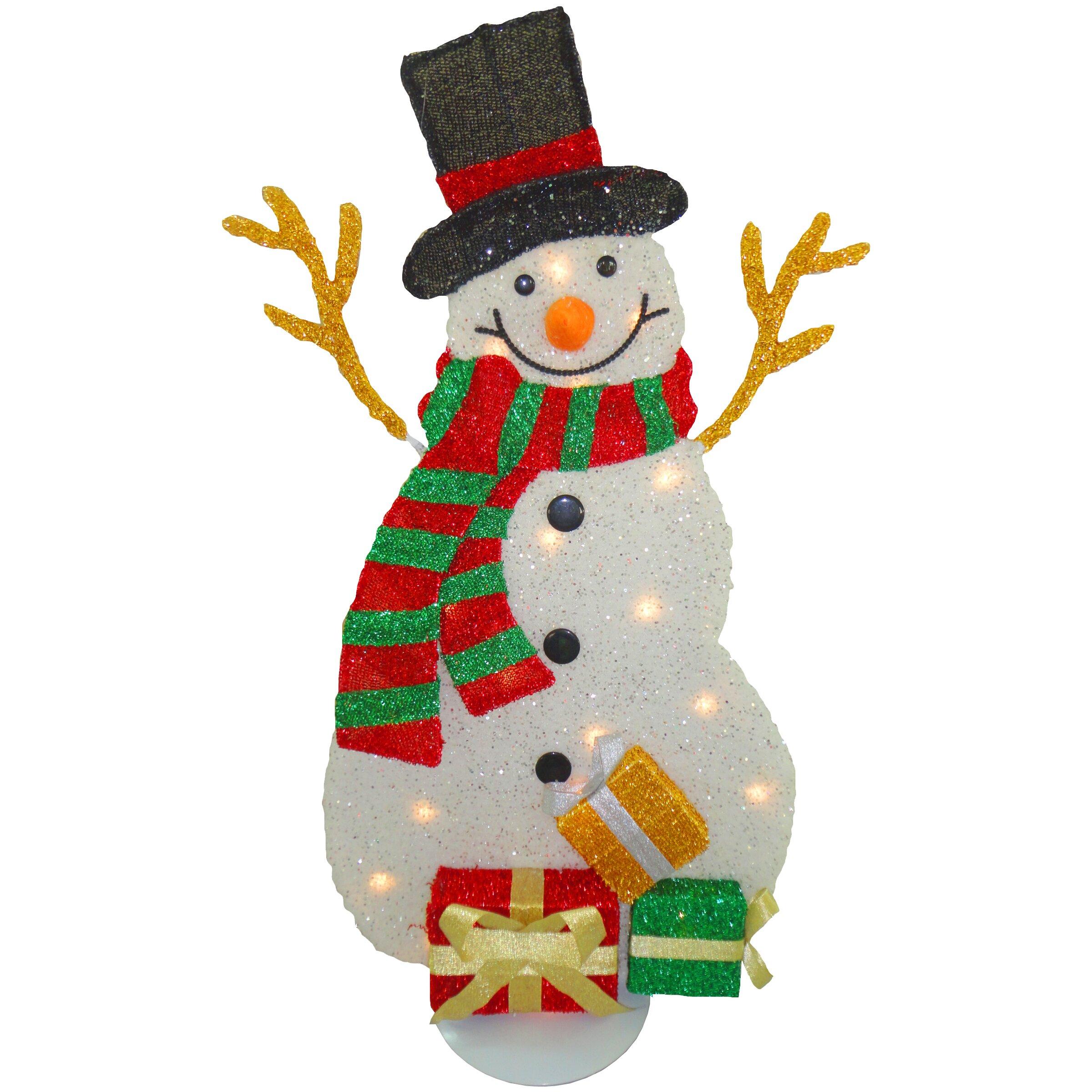 National tree co decorative d cor snowman christmas for Christmas snowman decorations