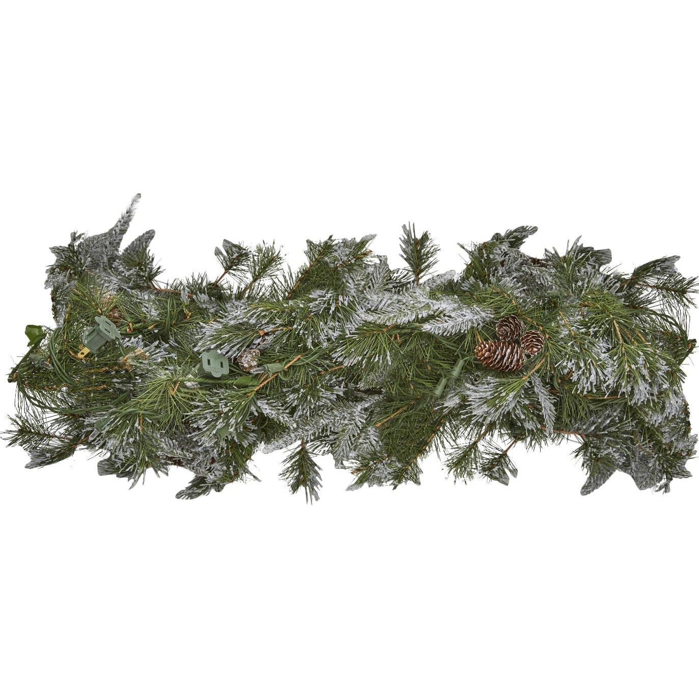 National Tree Co Feel Real Liberty Pine Pre Lit Garland