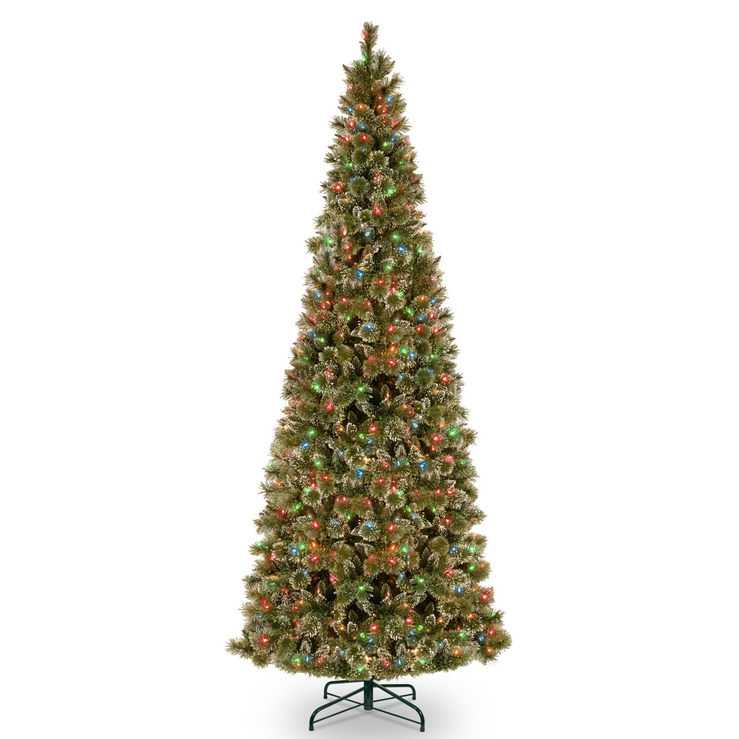National Tree Co 12 39 Glittering Pine Trees Artificial