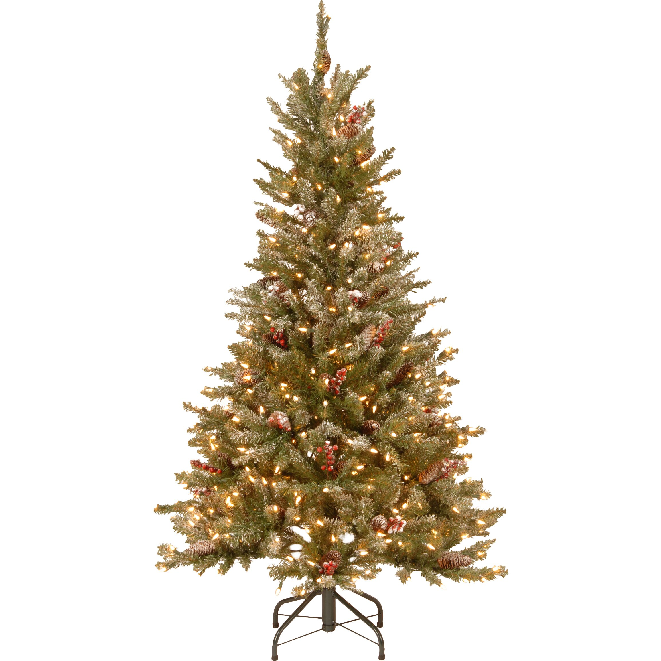 National Tree Co 5 39 Frosted Green Fir Trees Artificial