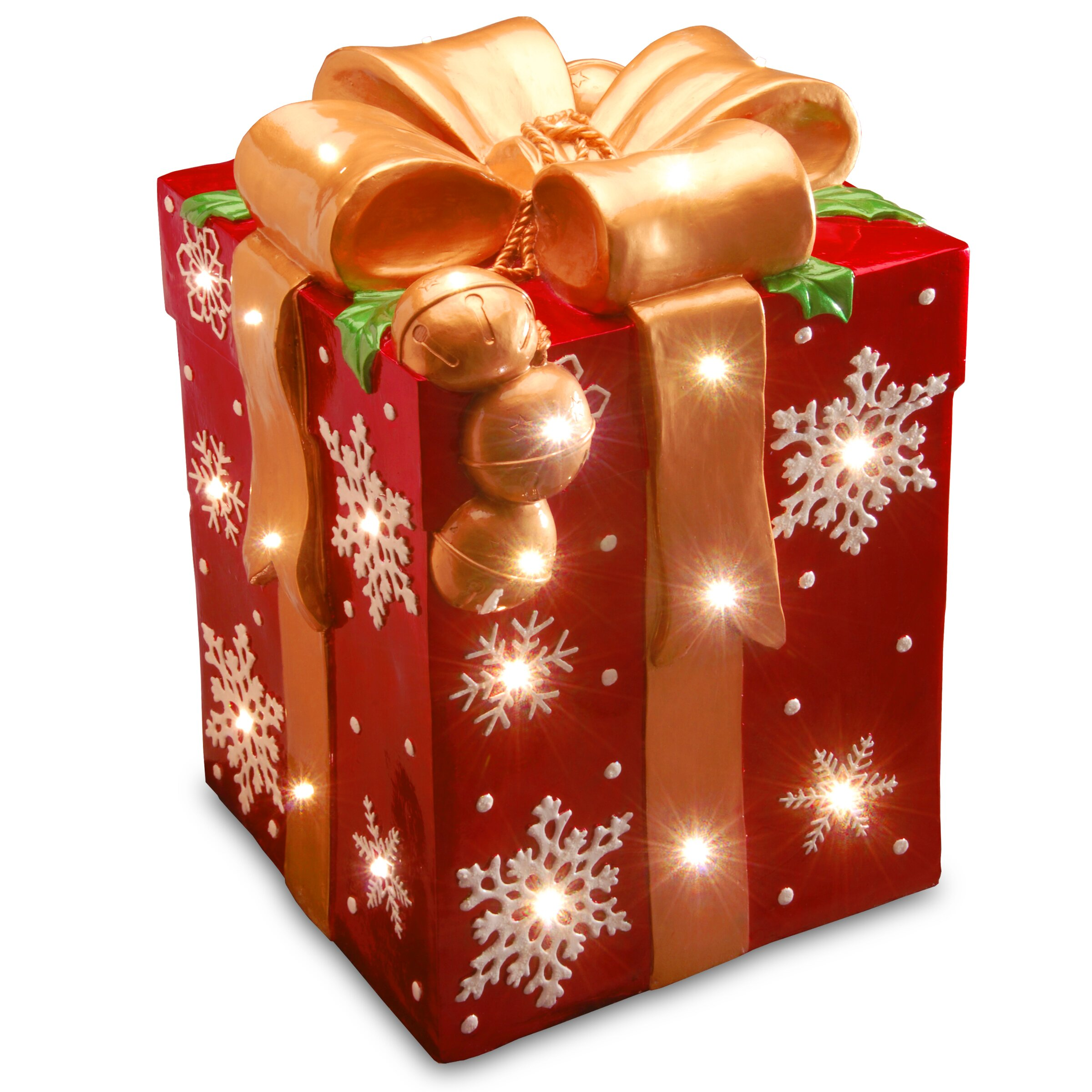 Gift Box Christmas Decorations: National Tree Co. Pre-Lit Gift Box Decoration & Reviews