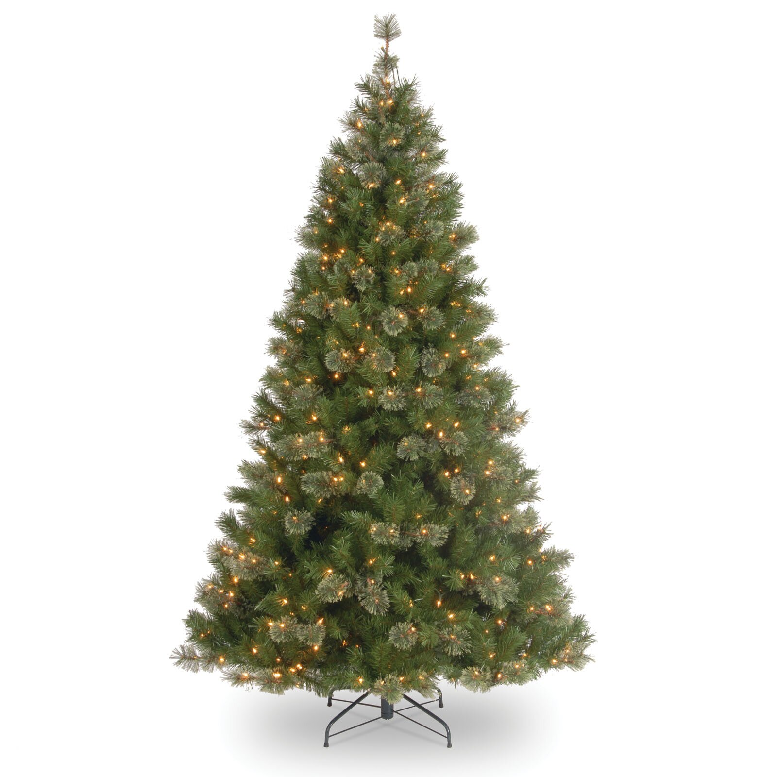 national tree co atlanta spruce 7 5 39 green artificial christmas tree with 550 pre lit clear. Black Bedroom Furniture Sets. Home Design Ideas