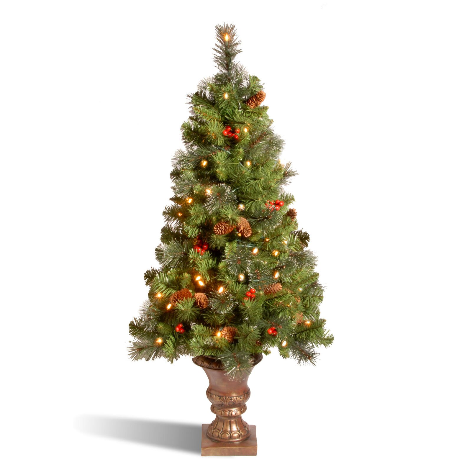 National Tree Co. Crestwood Spruce Entrance 4' Green ...