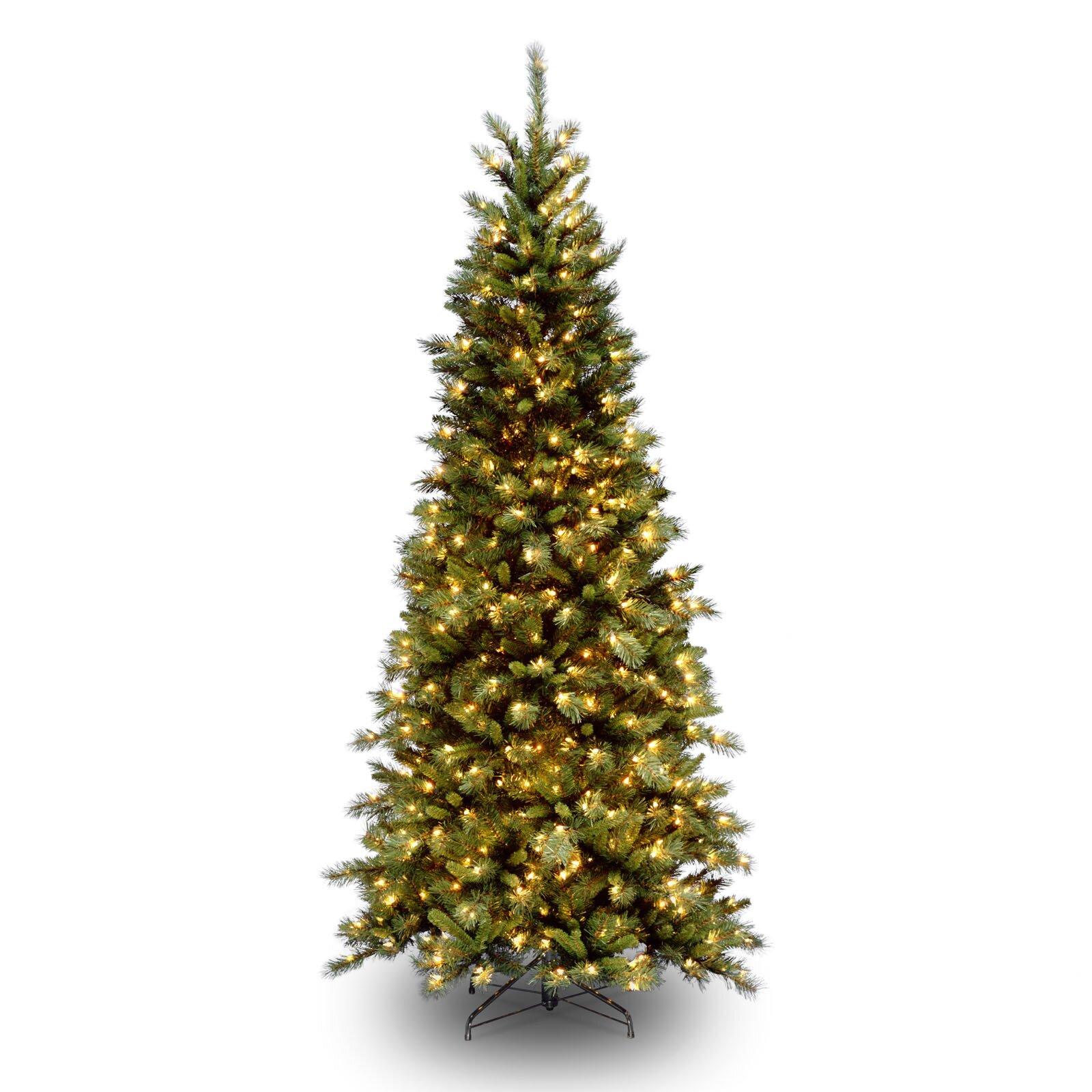 Next Slim Christmas Tree: National Tree Co. Tiffany Fir 7.5' Green Slim Artificial