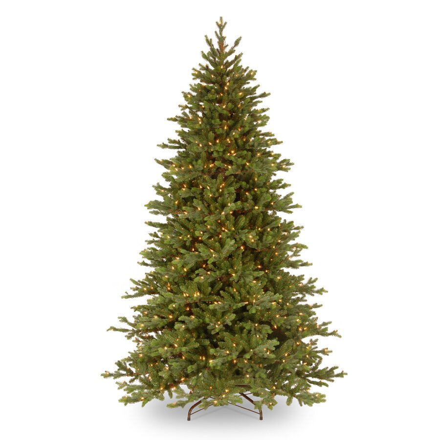 National tree co pre lit 7 5 39 green yukon fir artificial for Lit national