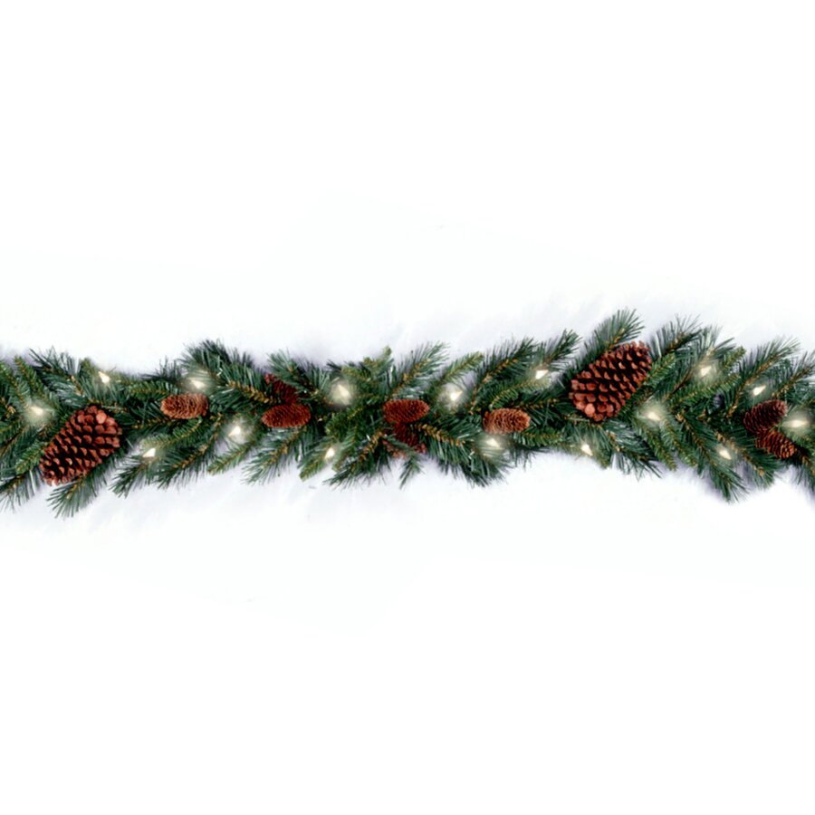 National Tree Co Pre Lit Pine Cone Garland Amp Reviews