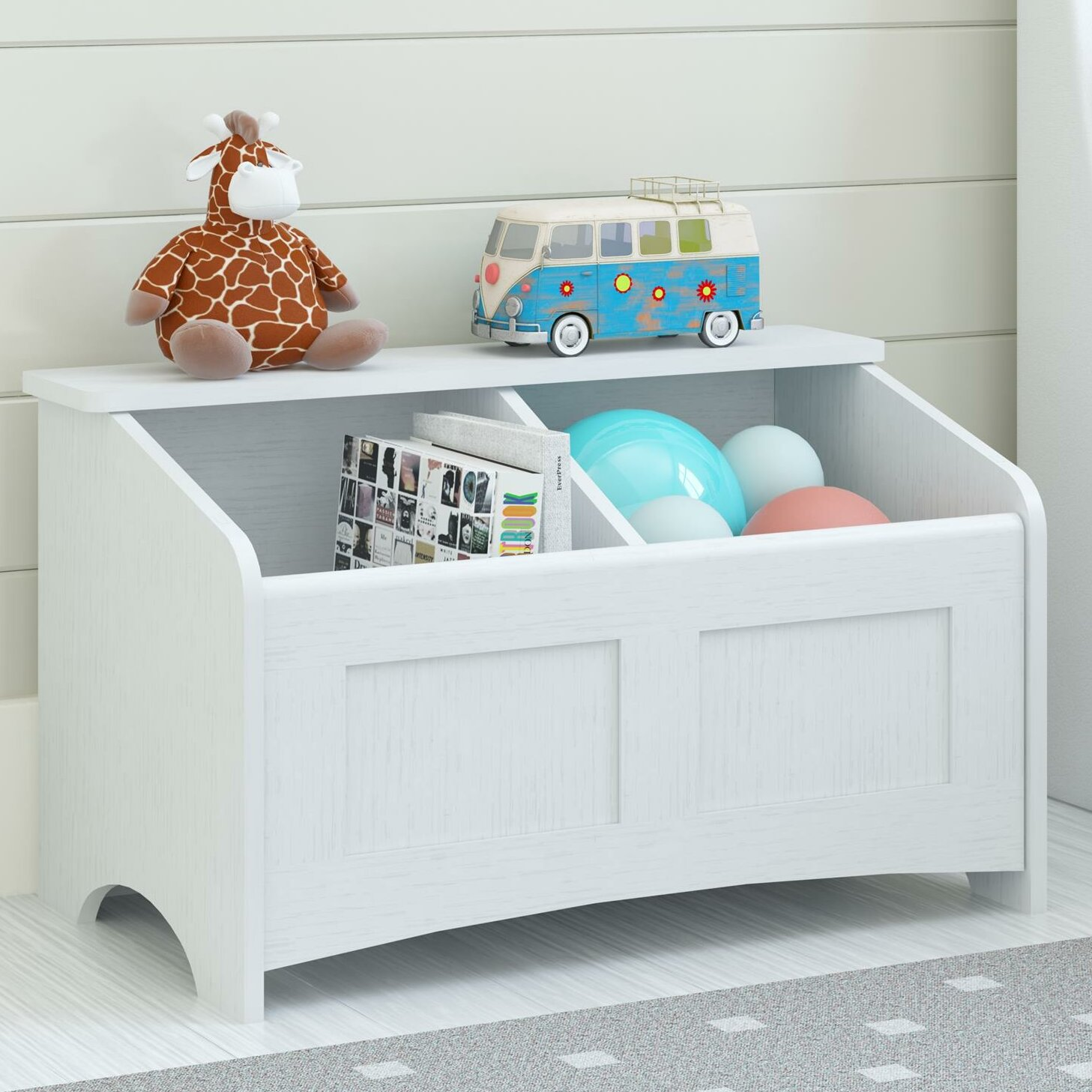 Altra toy box with section divider reviews wayfair - Toy storage furniture living room ...