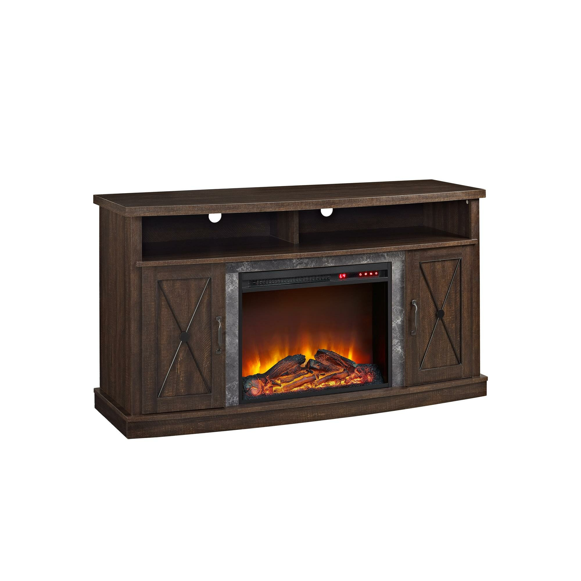 Altra Barrow Creek Tv Stand With Electric Fireplace Reviews Wayfair