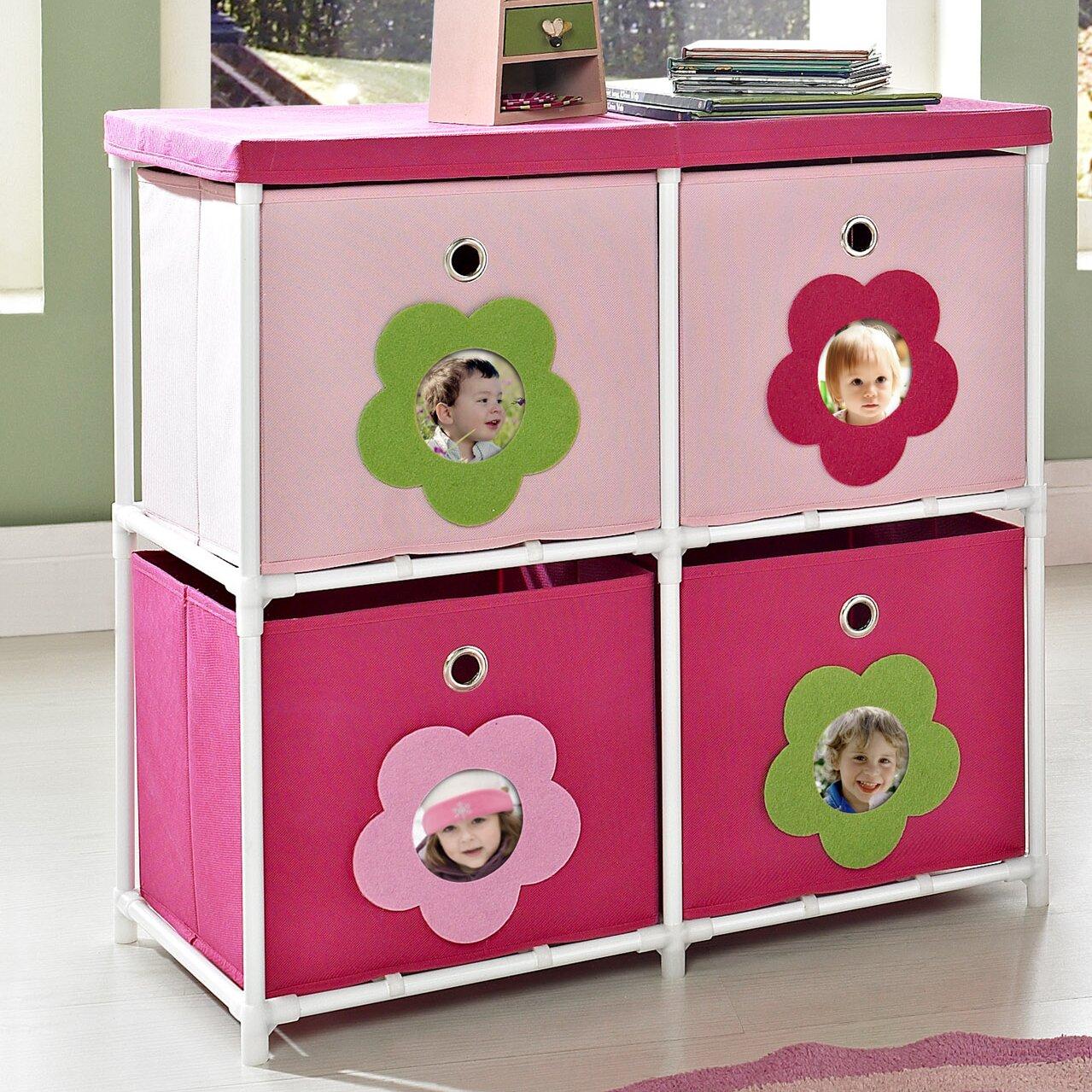 altra kids 39 4 cube toy organizer reviews wayfair. Black Bedroom Furniture Sets. Home Design Ideas
