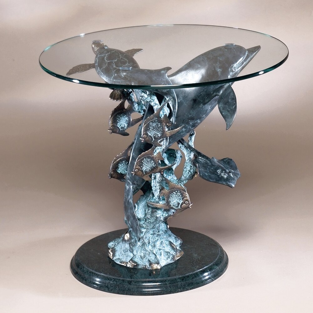 Spi Home Dolphin Seaworld End Table Reviews Wayfair